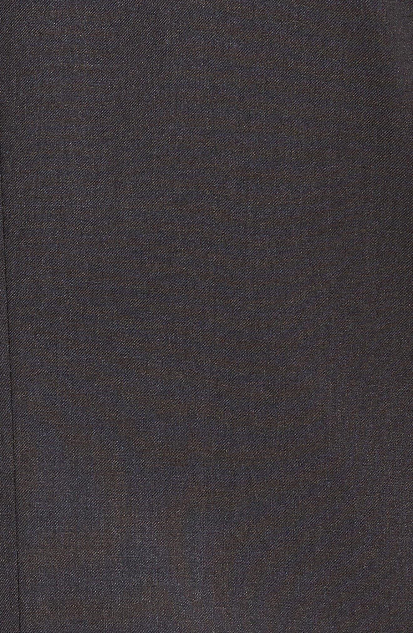 'Ryan/Win' Extra Trim Fit Solid Wool Suit,                             Alternate thumbnail 5, color,                             Dark Grey