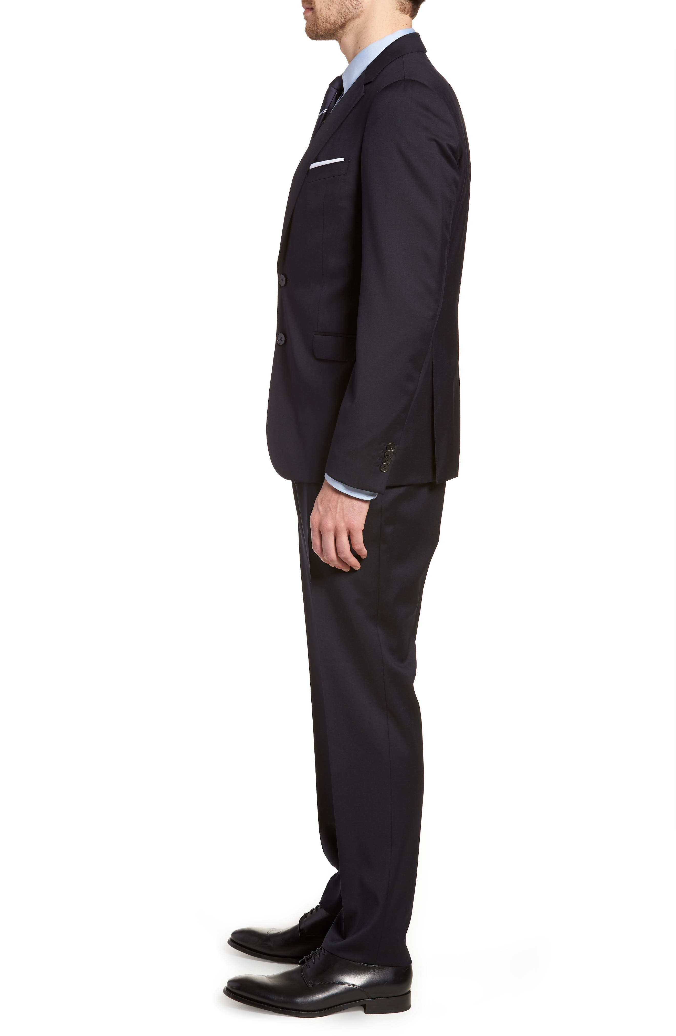 Ryan/Win Extra Trim Fit Solid Wool Suit,                             Alternate thumbnail 3, color,                             Dark Blue