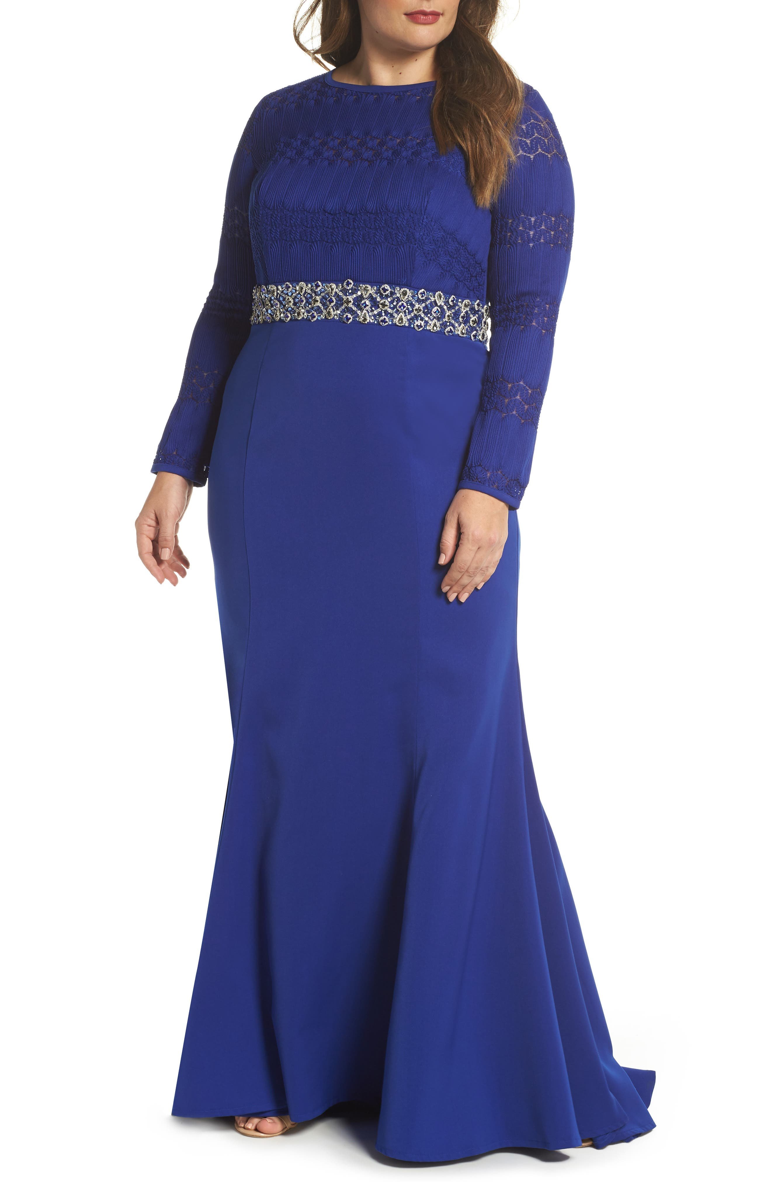 Embellished Gown,                             Main thumbnail 1, color,                             Royal