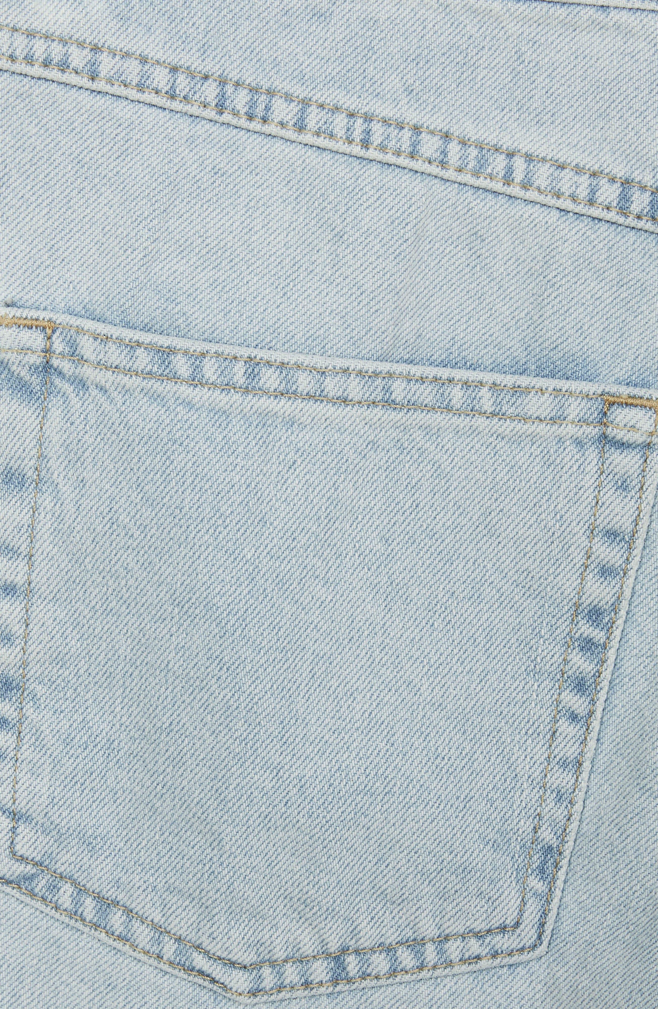 Boutique Bleach Denim Jeans,                             Alternate thumbnail 3, color,                             Light Denim