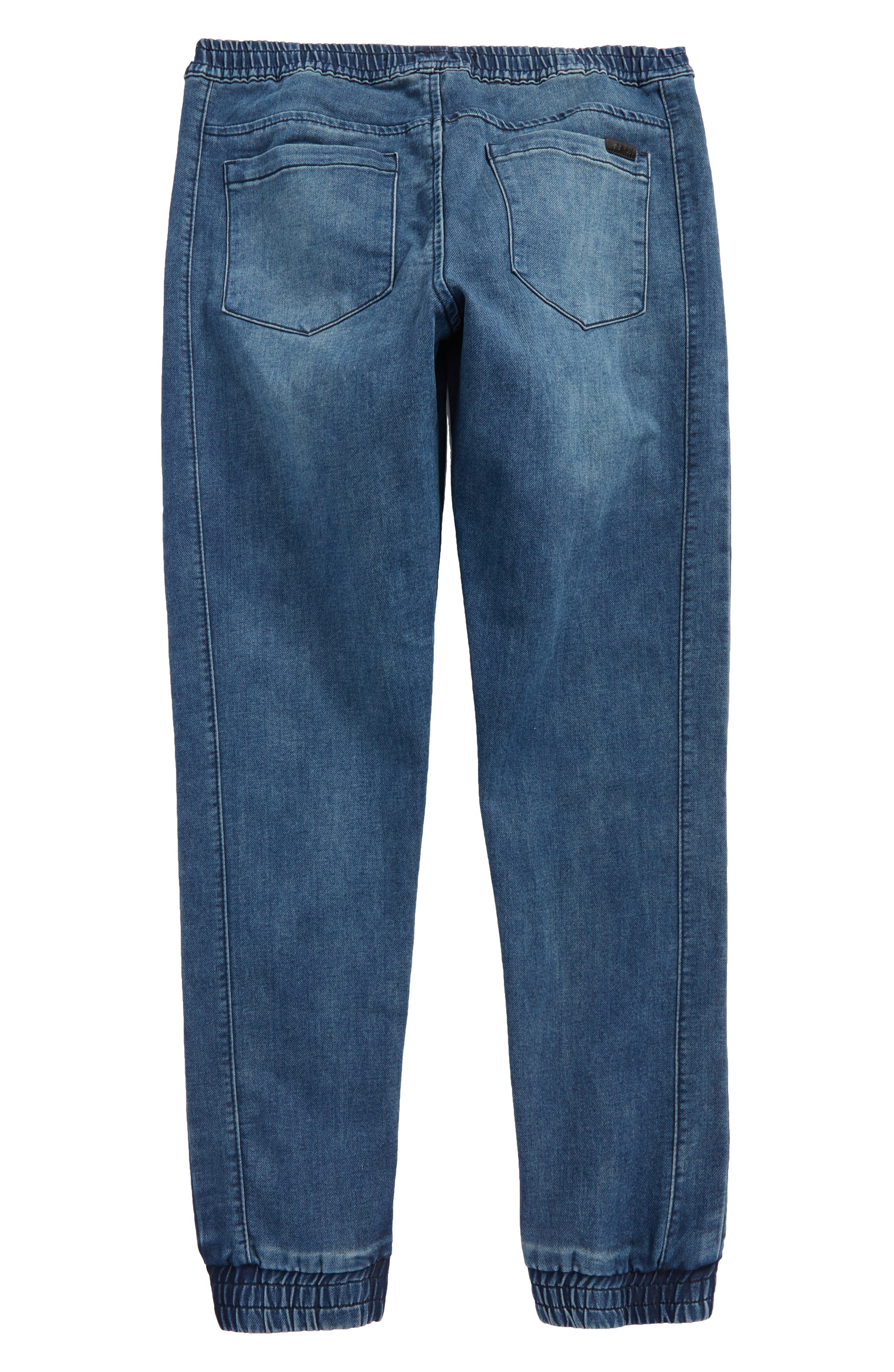 Slim Fit Denim Jogger Pants,                             Alternate thumbnail 2, color,                             Indigo