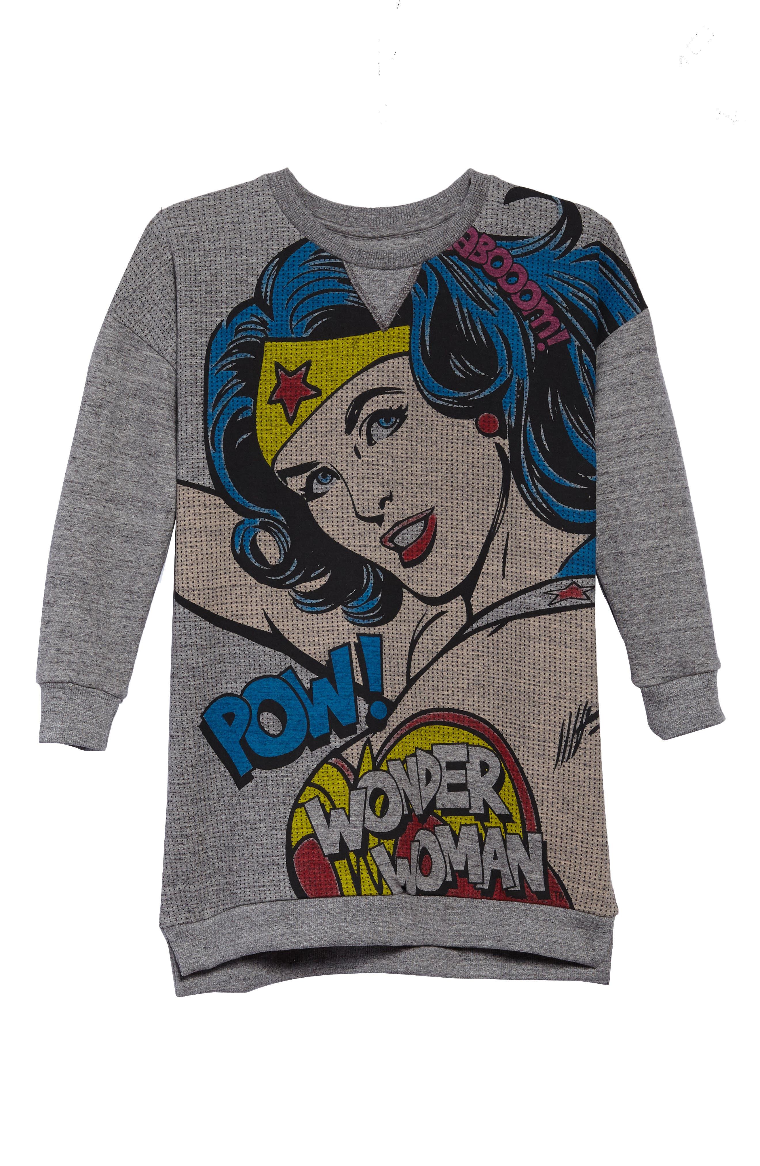 Little ELEVENPARIS Woom Wonder Woman Dress,                         Main,                         color, Grey