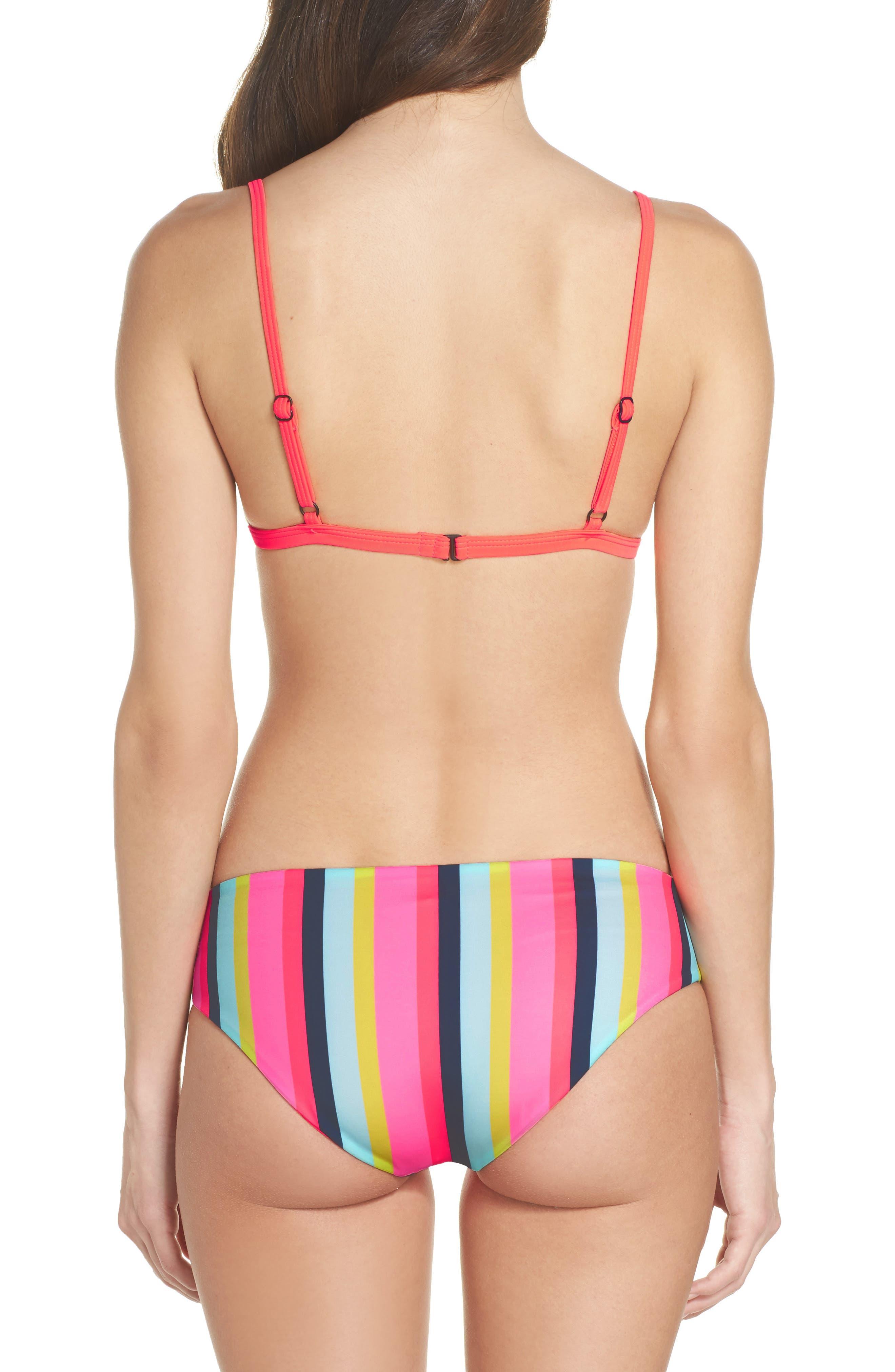 Triangle Bikini Top,                             Alternate thumbnail 8, color,                             Multi Stripe