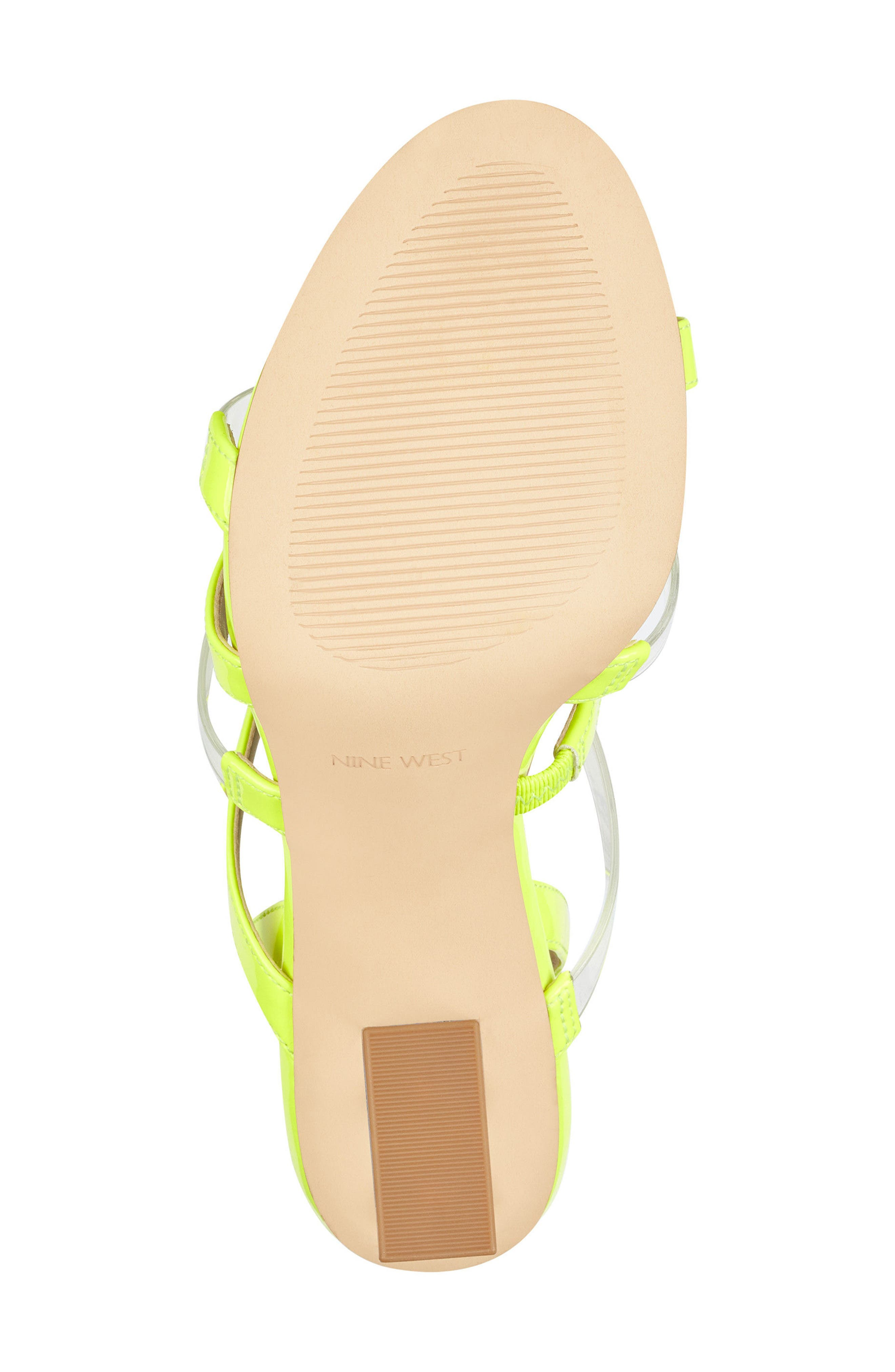 Fazzani Cage Sandal,                             Alternate thumbnail 6, color,                             Clear/ Yellow Faux Leather