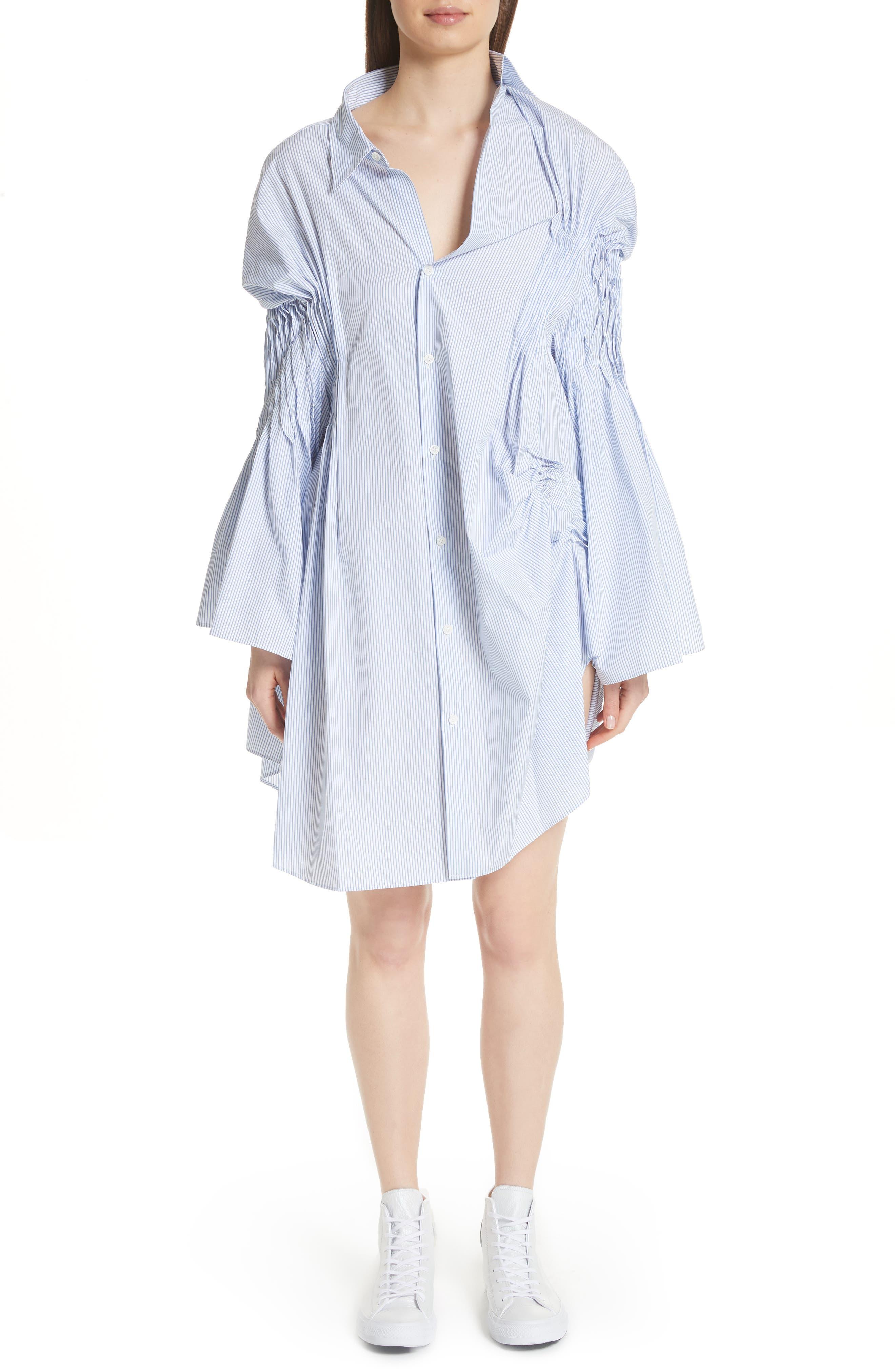 Junya Watanabe Asymmetrical Cotton Shirtdress