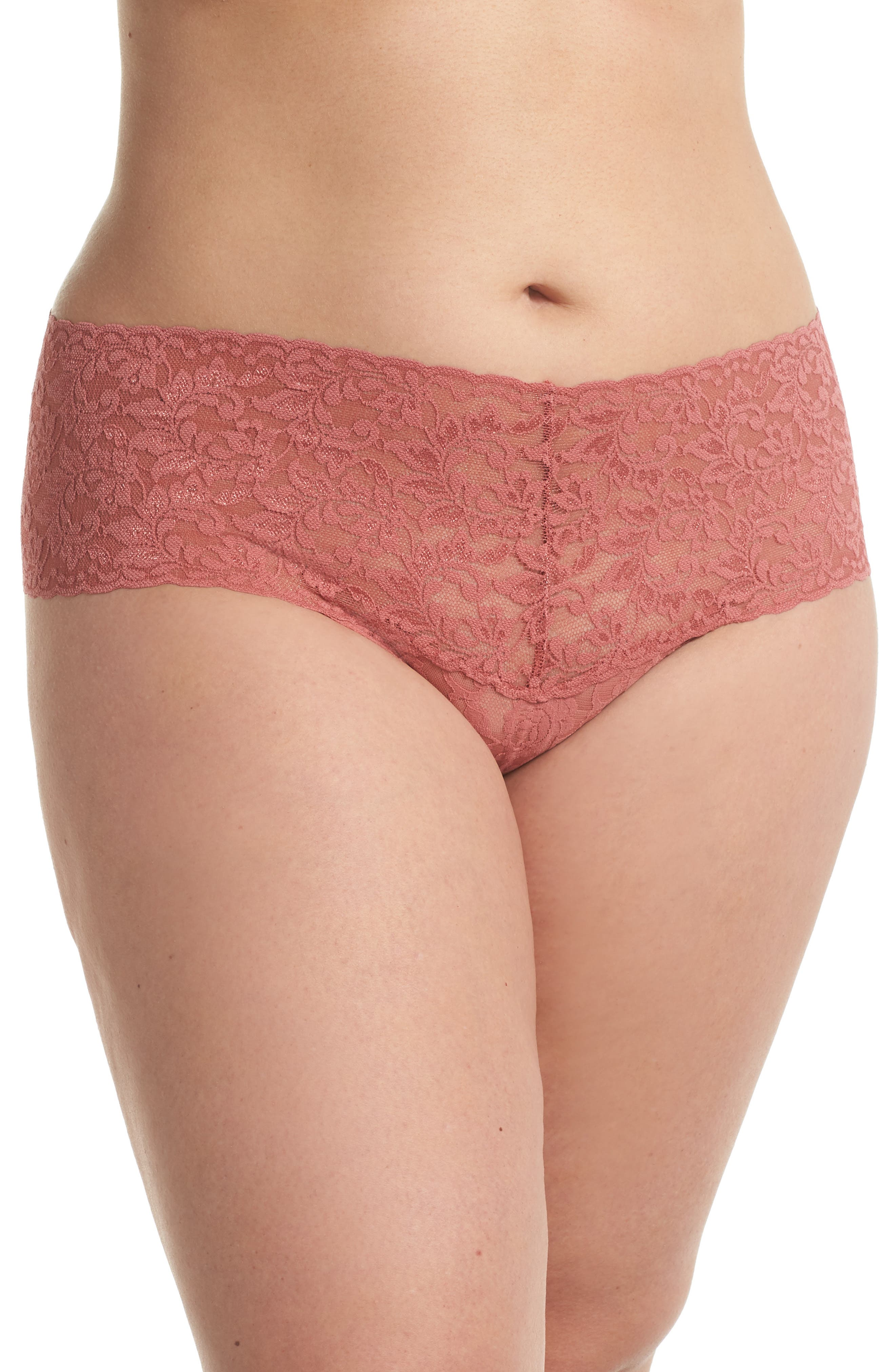 'Retro' Thong,                         Main,                         color, Pink Sands