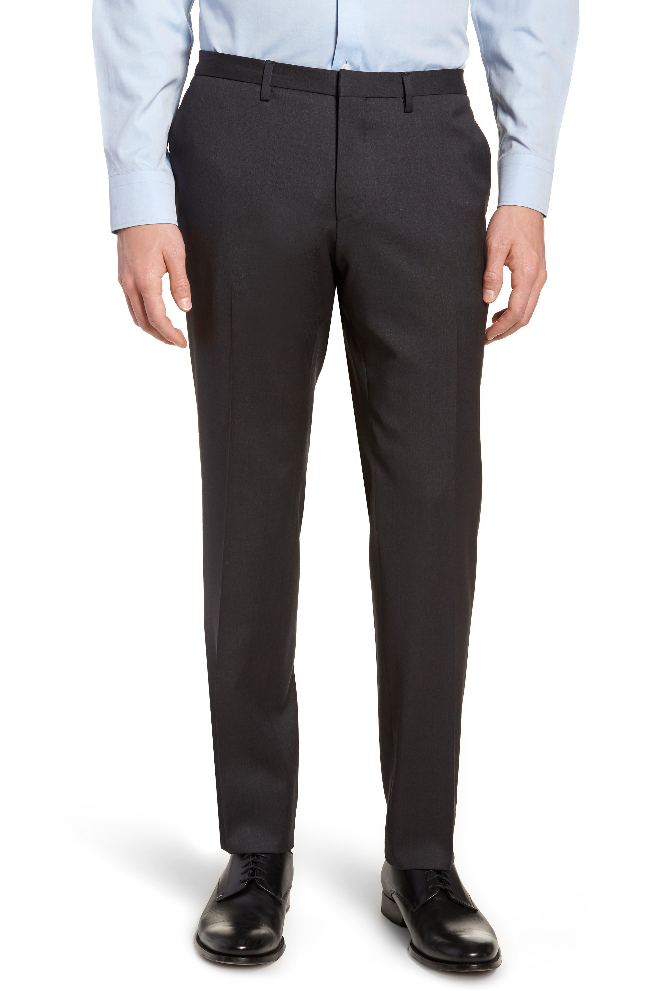 'Ryan/Win' Extra Trim Fit Solid Wool Suit,                             Alternate thumbnail 8, color,                             Dark Grey