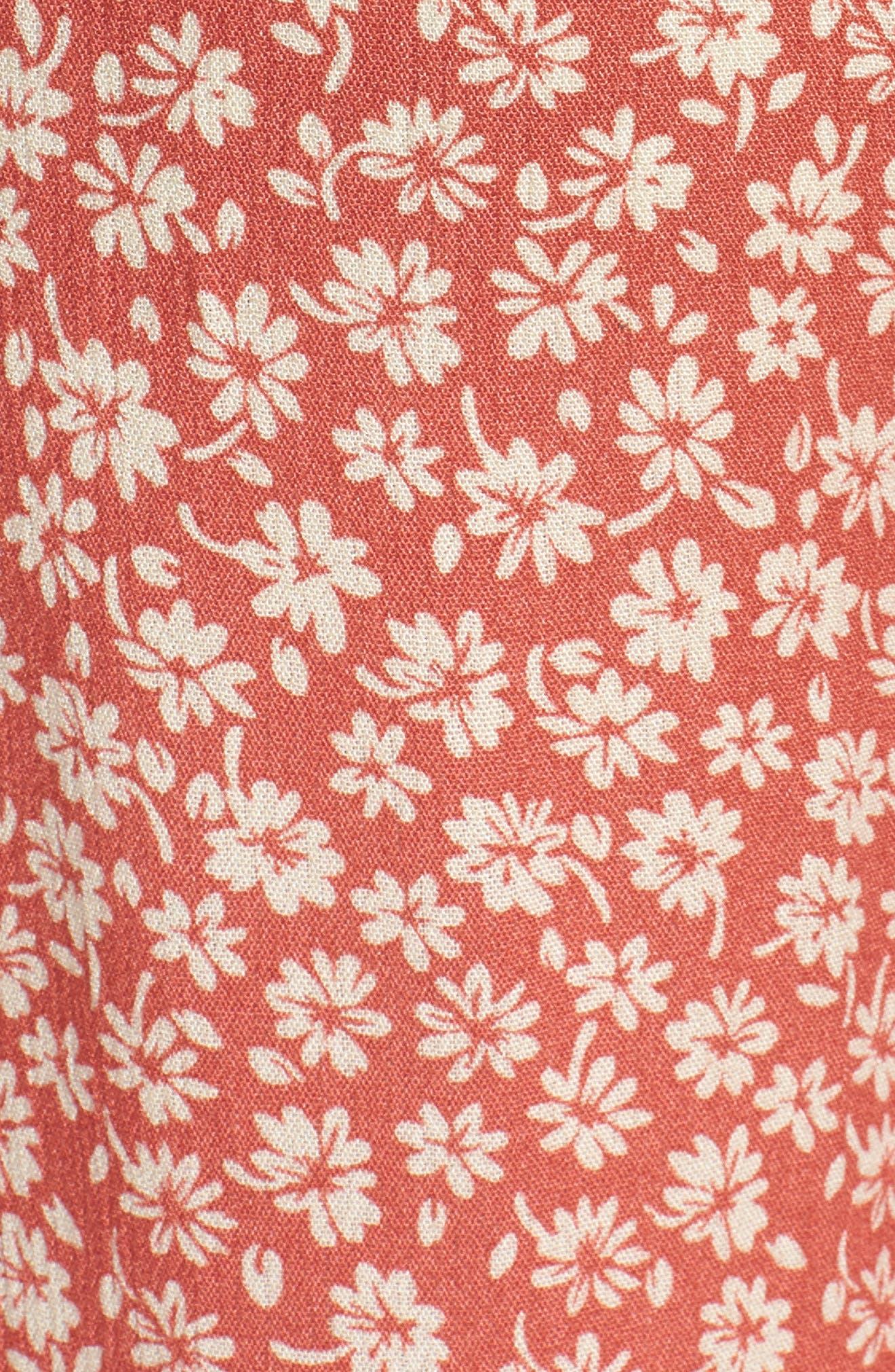 Sun's Out Tie Waist Culottes,                             Alternate thumbnail 8, color,                             Coral