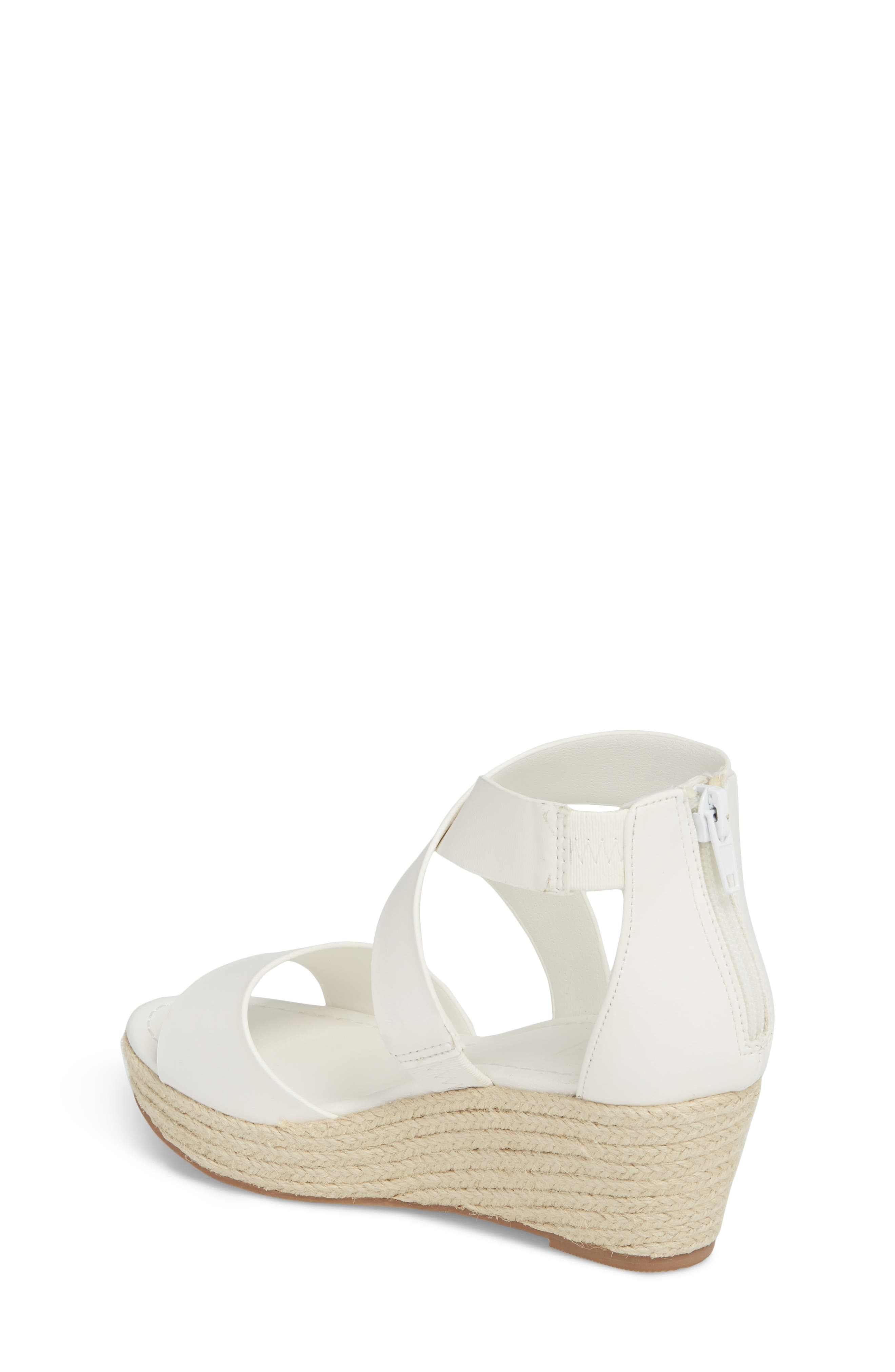 Wilma Platform Wedge Sandal,                             Alternate thumbnail 2, color,                             White