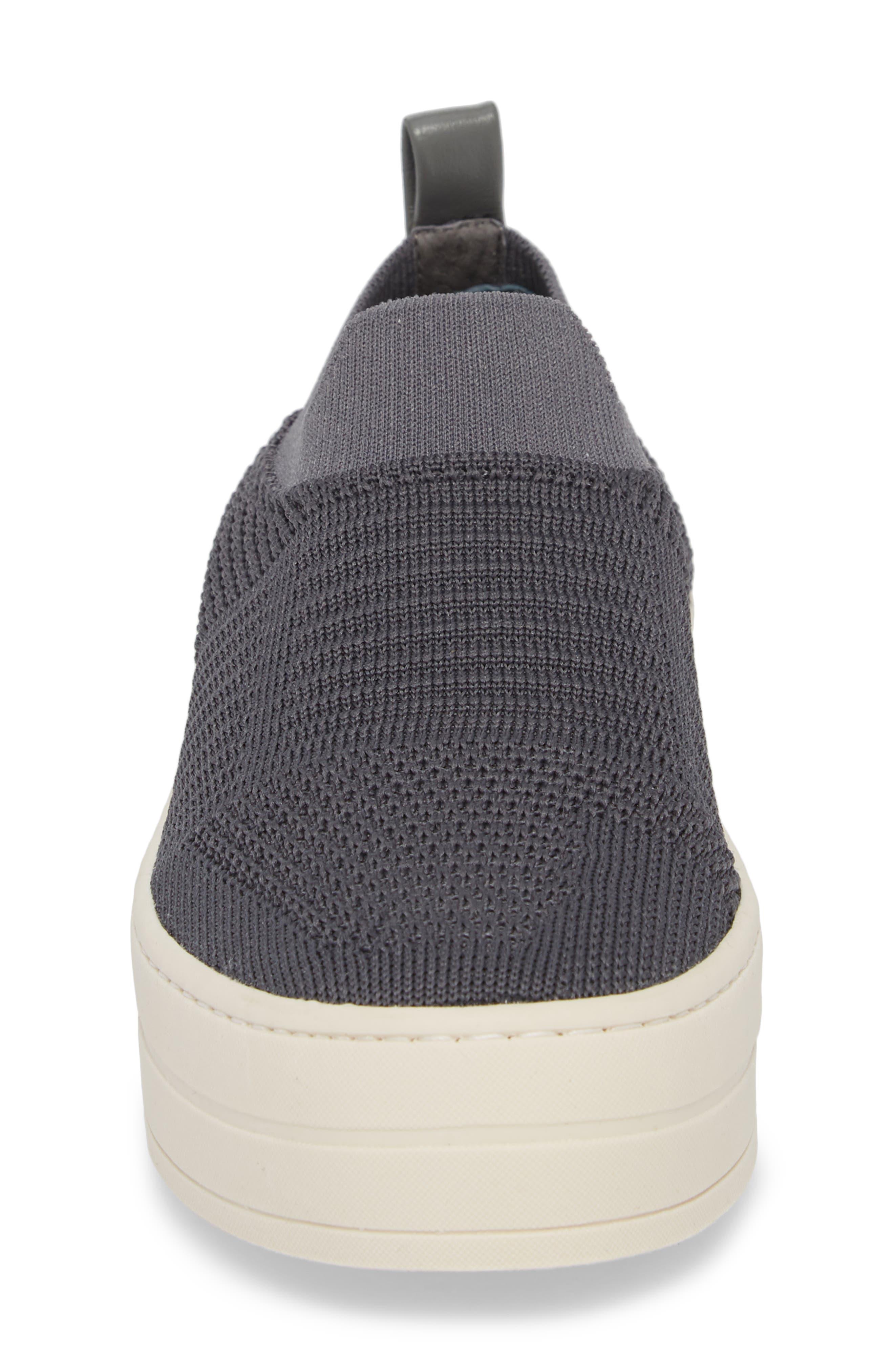 Hilo Platform Slip-On Sneaker,                             Alternate thumbnail 4, color,                             Grey Fabric