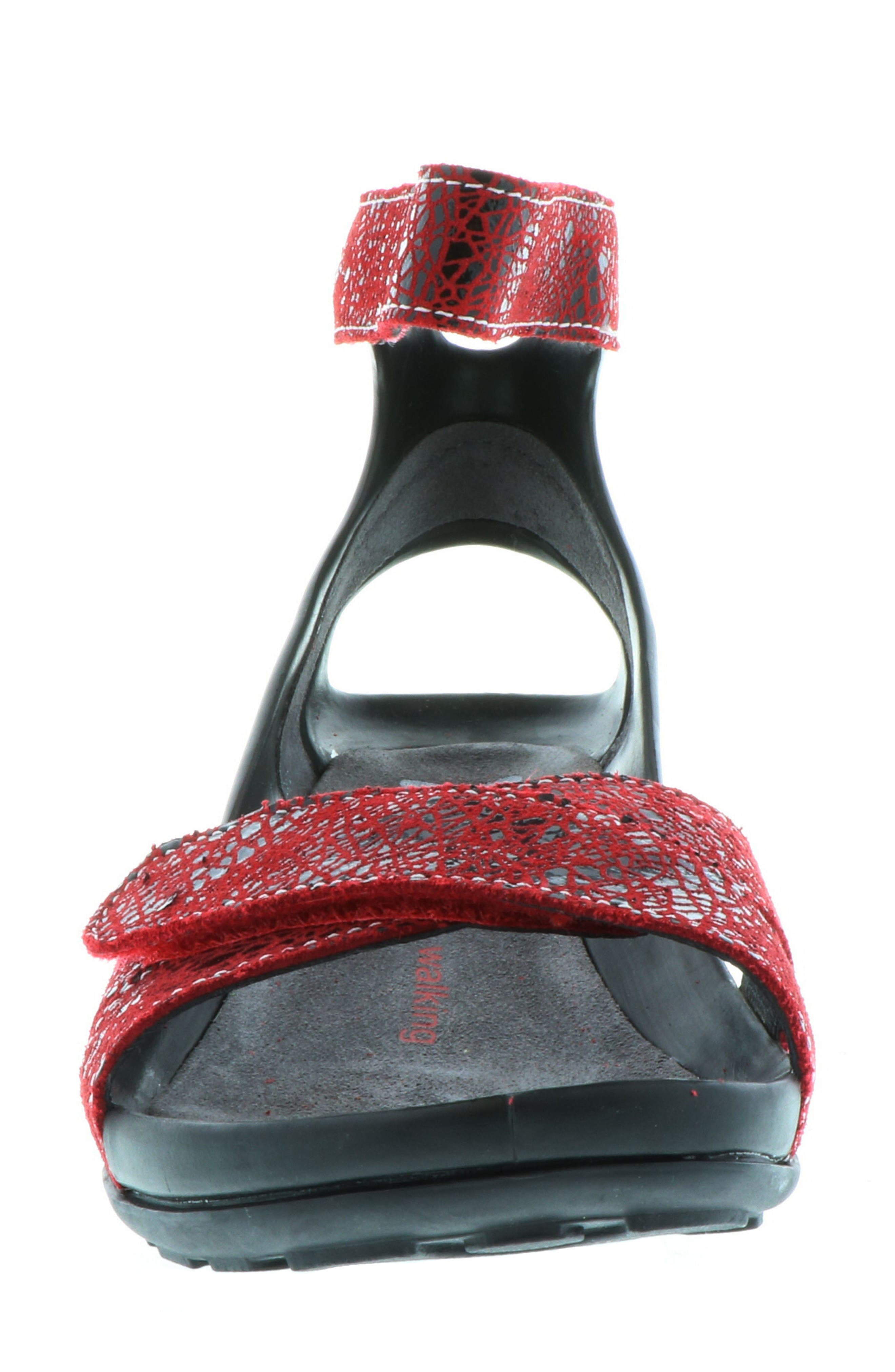 Do Wedge Sandal,                             Alternate thumbnail 4, color,                             Red Suede