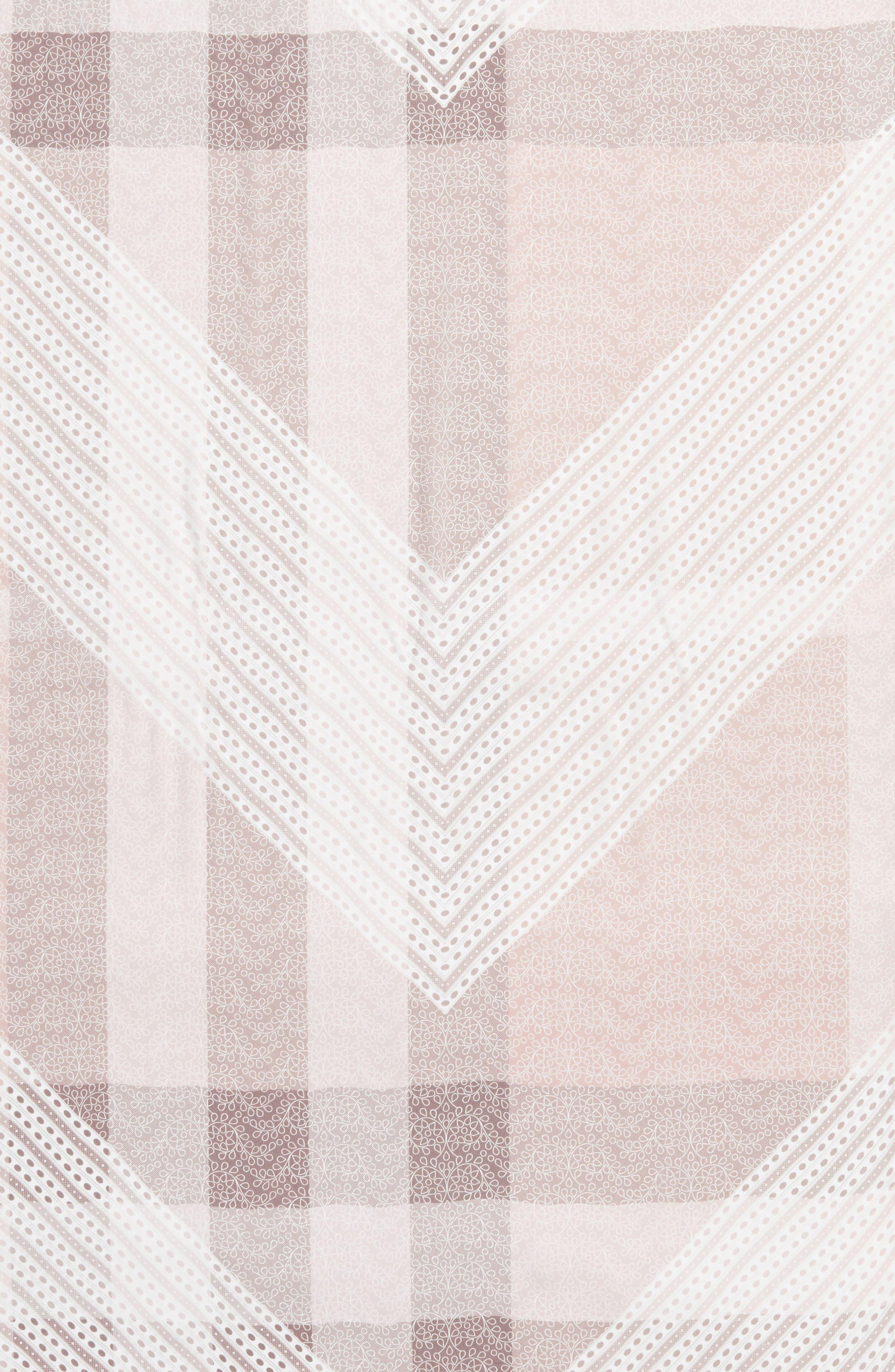 Ultra Mega Lace Silk Scarf,                             Alternate thumbnail 4, color,                             Ash Rose Pink