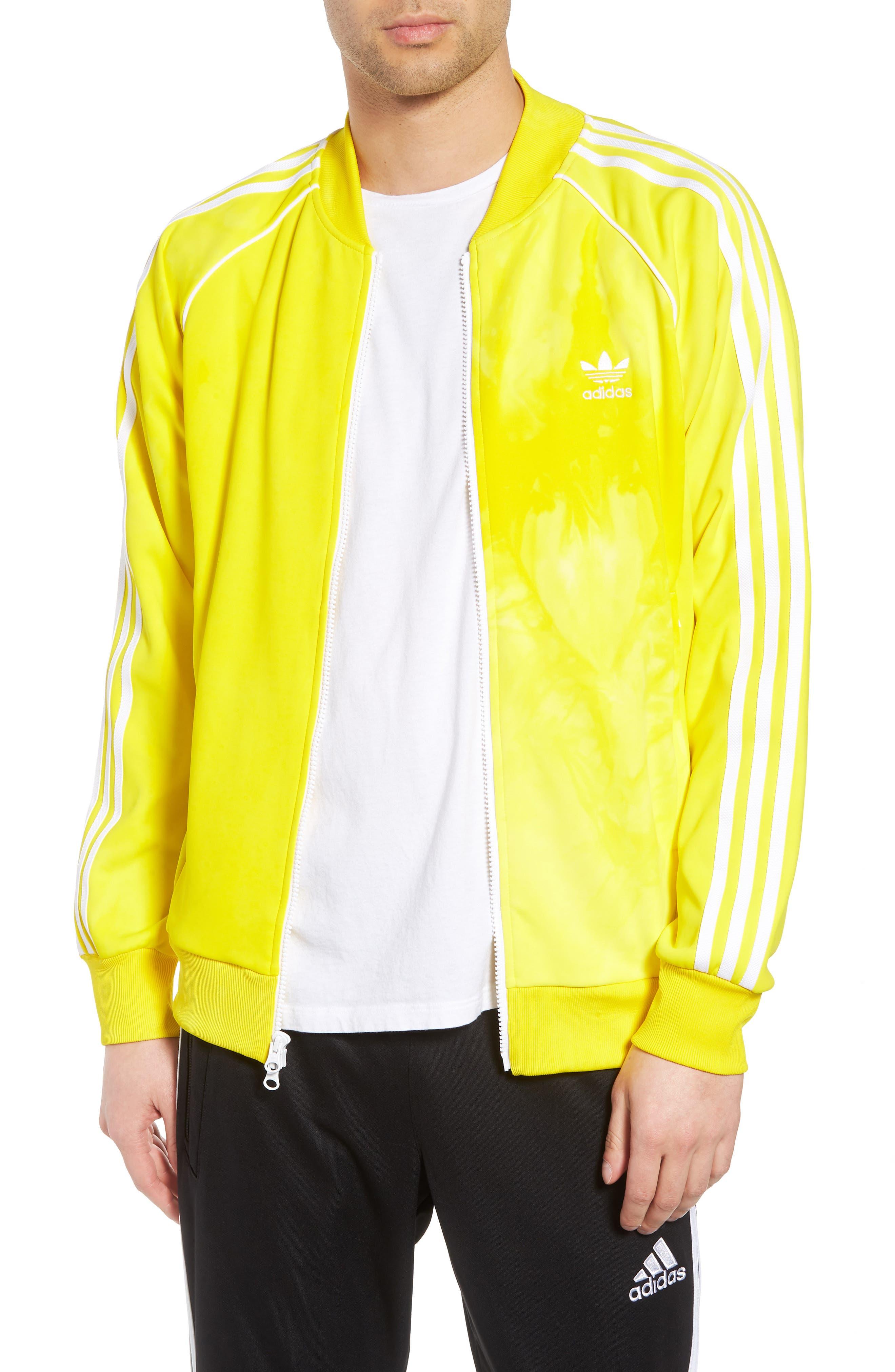 Hu Holi Track Jacket,                         Main,                         color, Yellow