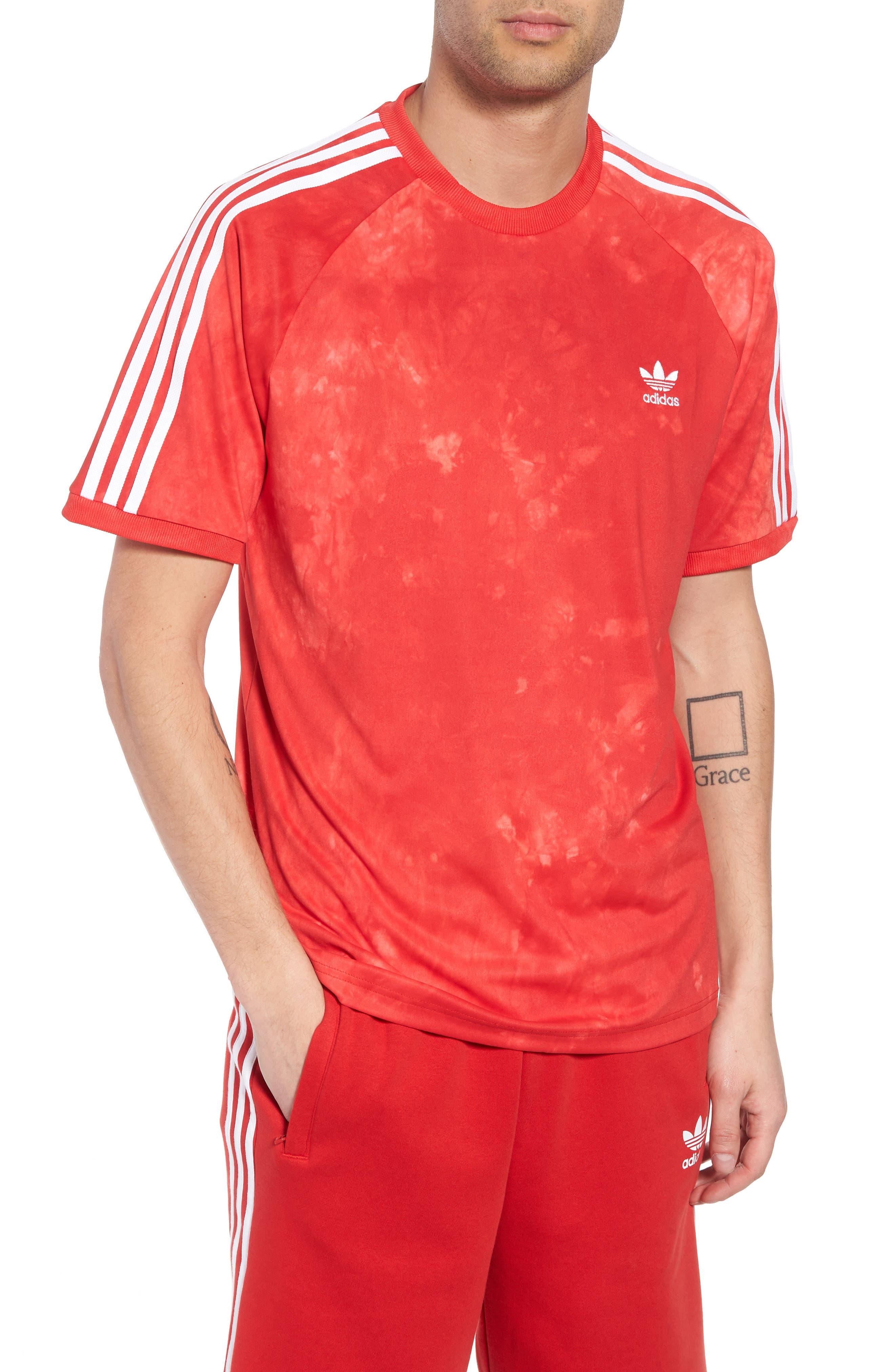 Hu Holi Soccer T-Shirt,                             Main thumbnail 1, color,                             Scarlet