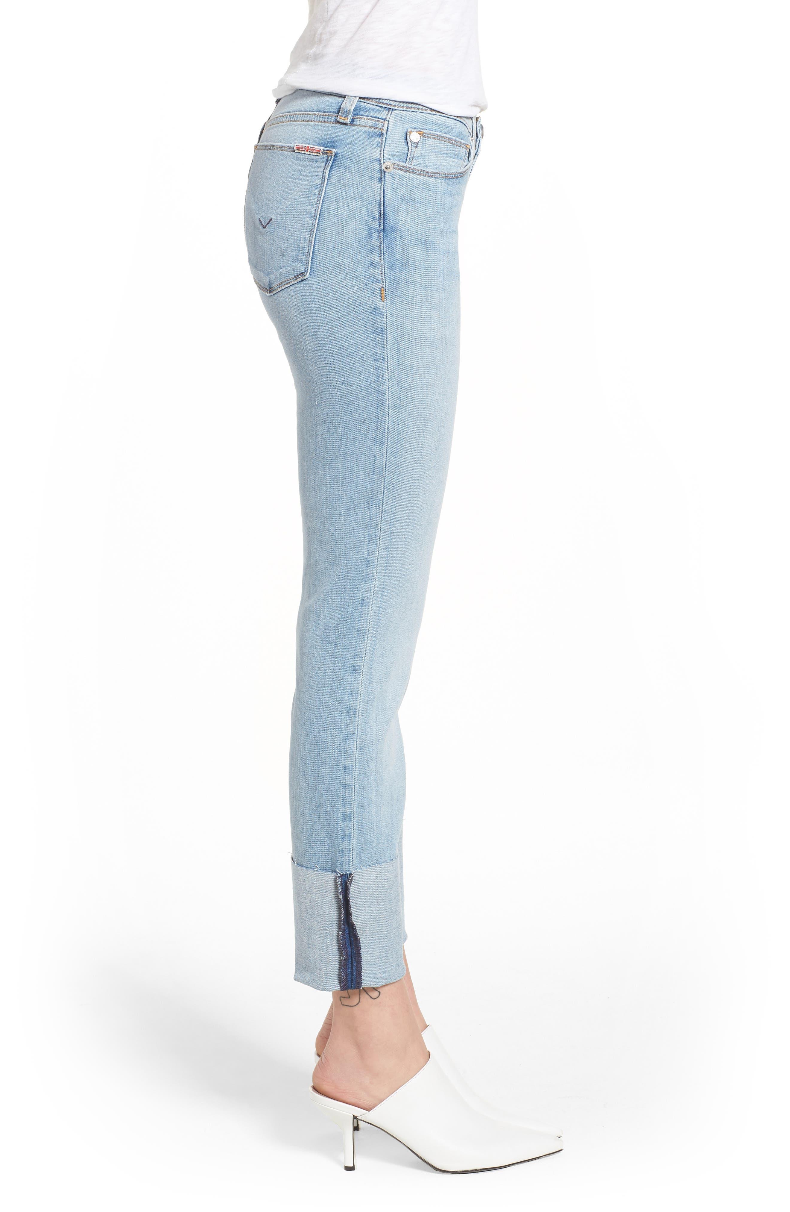Tally Cuffed Crop Skinny Jeans,                             Alternate thumbnail 3, color,                             Gemini