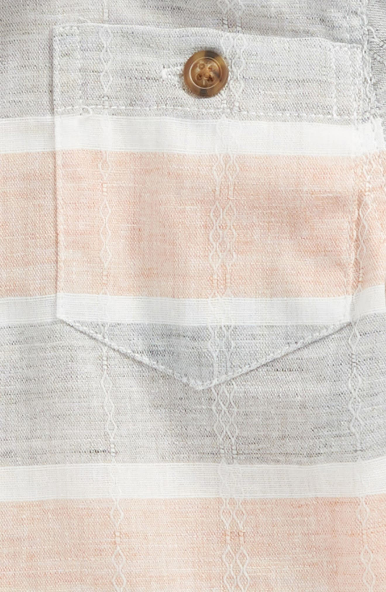 Stripe Woven Shirt,                             Alternate thumbnail 2, color,                             Orange