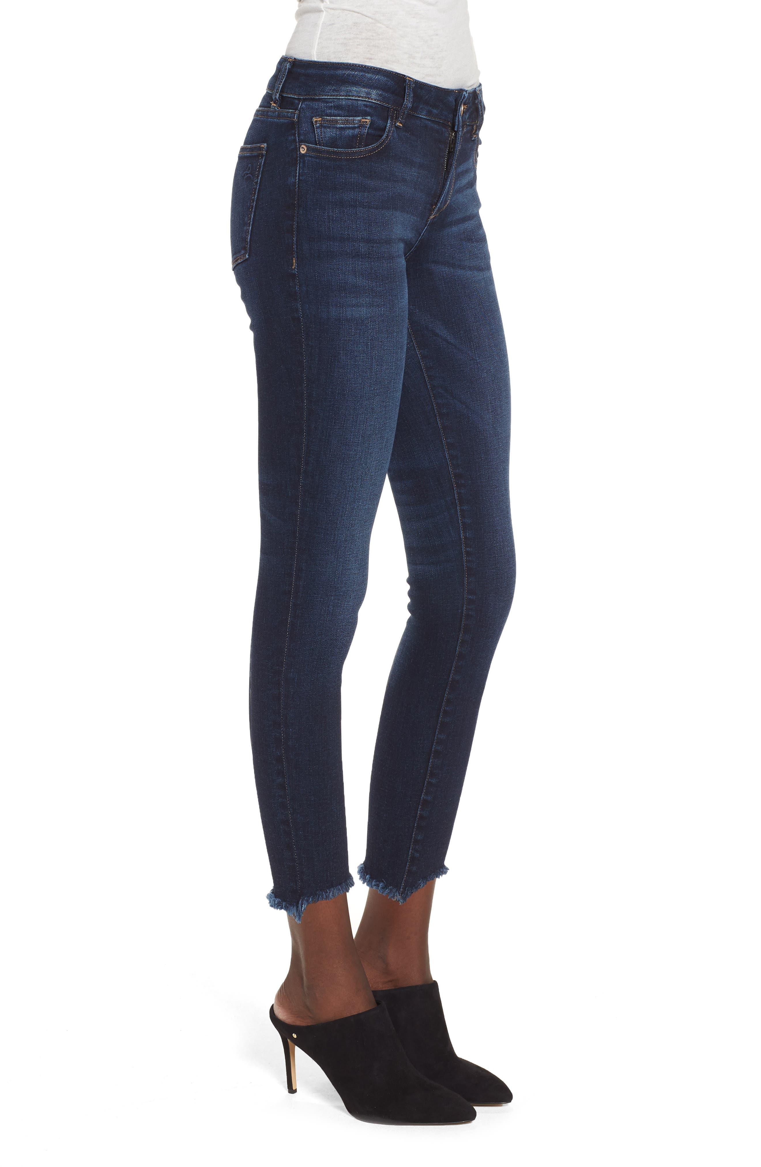 Florence Instasculpt Crop Skinny Jeans,                             Alternate thumbnail 3, color,                             Ralston