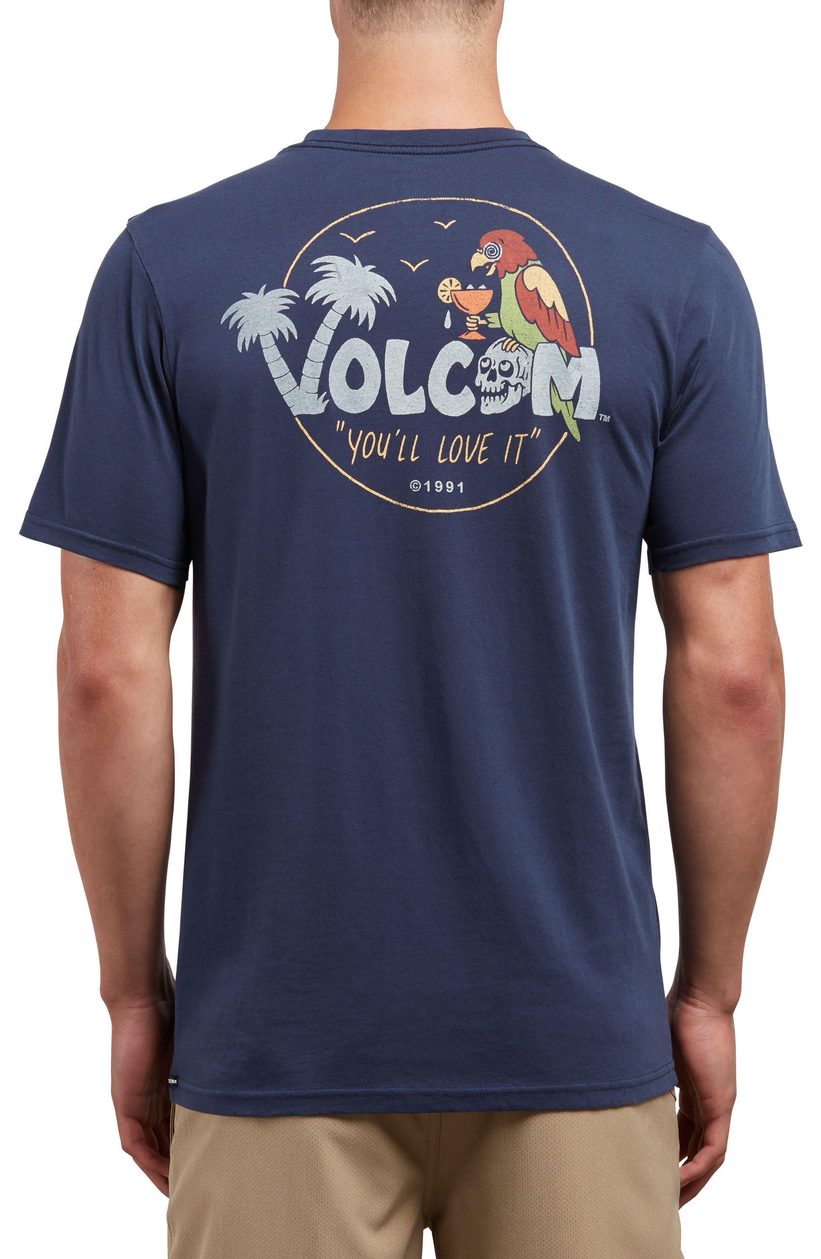 El Loro Loco T-Shirt,                             Alternate thumbnail 2, color,                             Navy