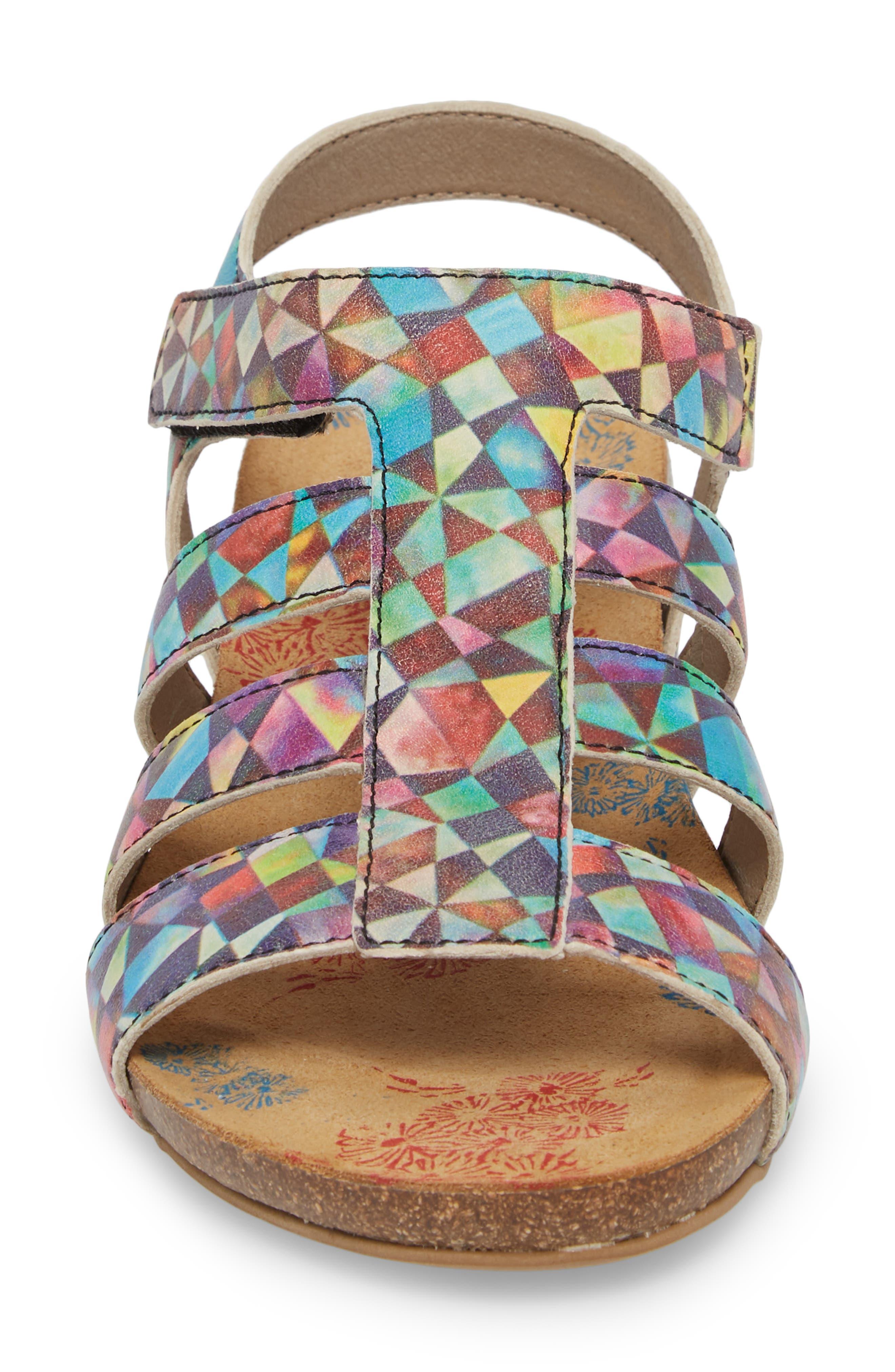 Delta Wedge Sandal,                             Alternate thumbnail 4, color,                             Mystere Leather