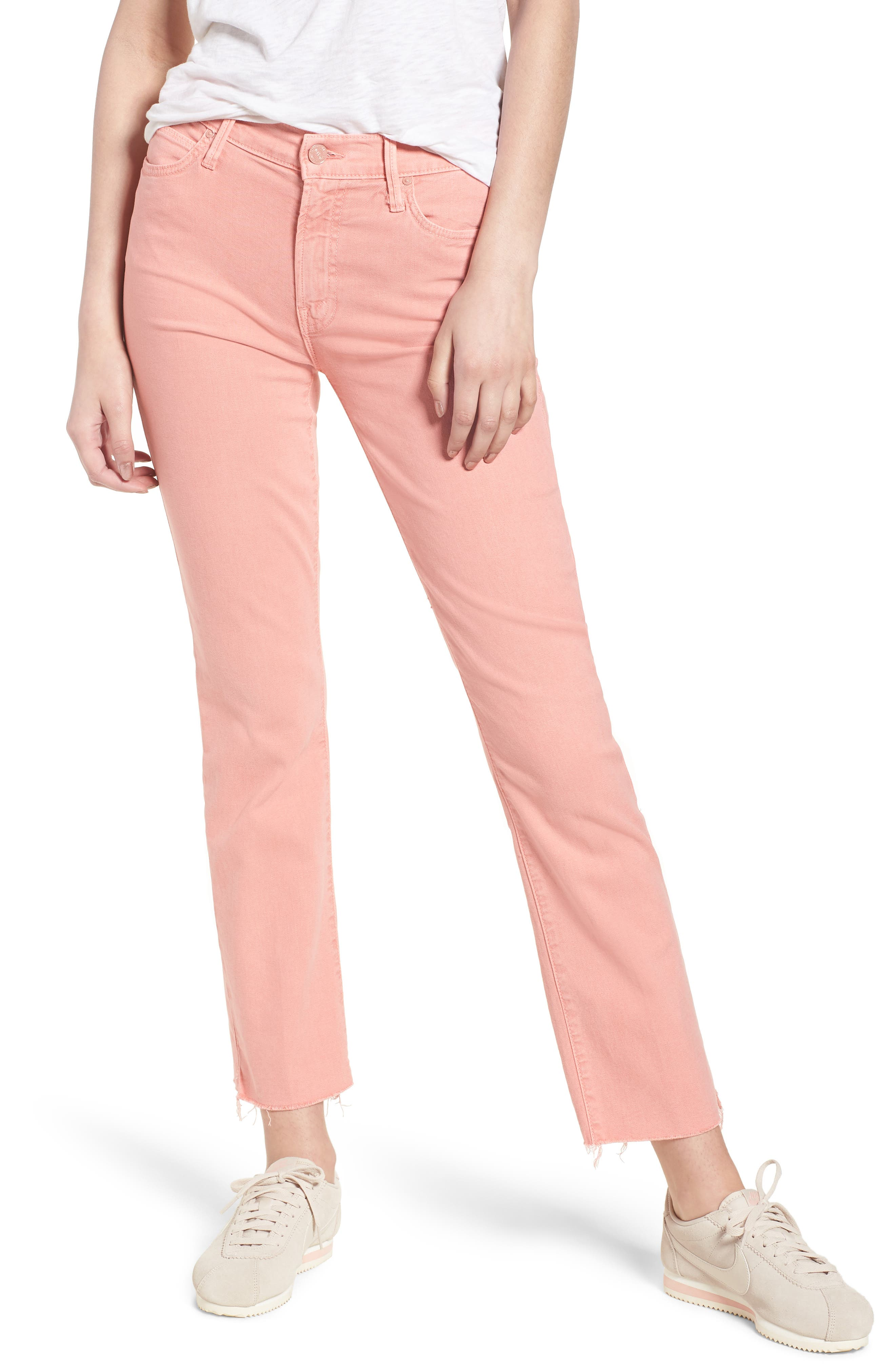 The Rascal Ankle Snippet Jeans,                         Main,                         color, Dusty Pink
