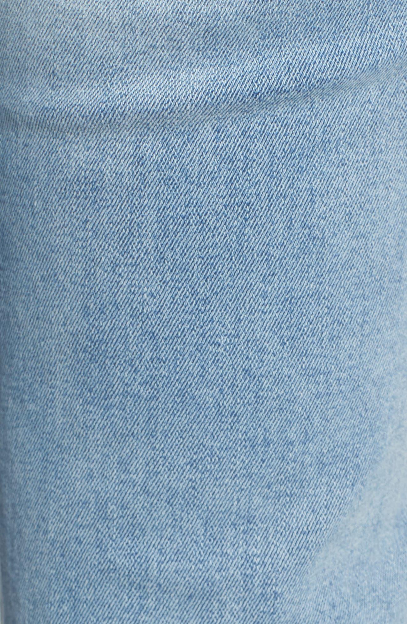 Mara Instasculpt Ankle Straight Leg Jeans,                             Alternate thumbnail 3, color,                             Marina