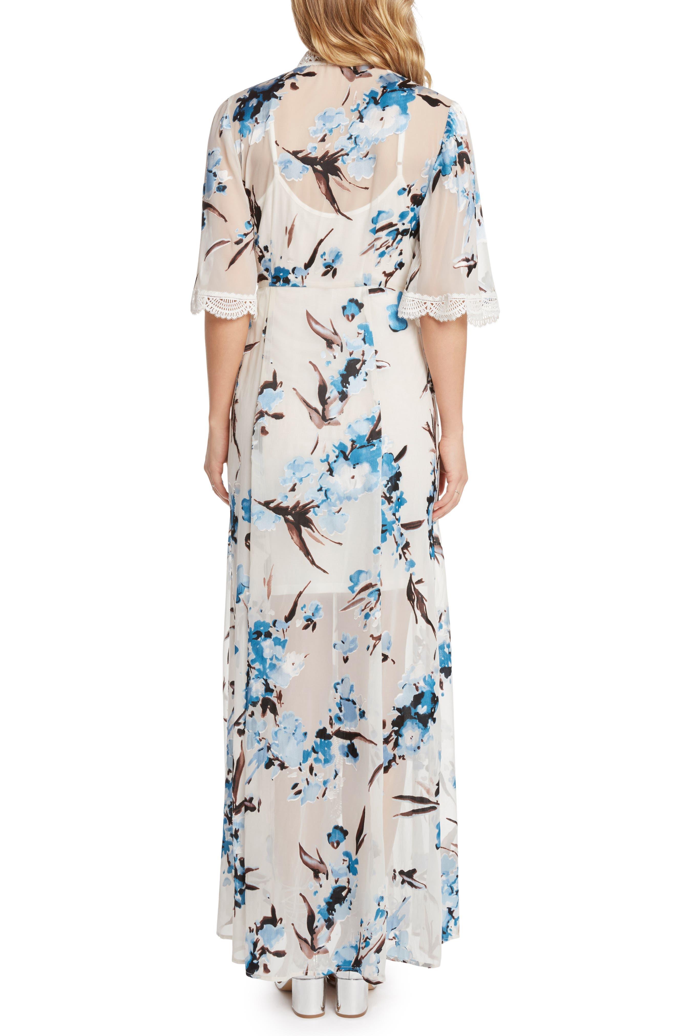 Wrap Maxi Dress,                             Alternate thumbnail 2, color,                             Sky
