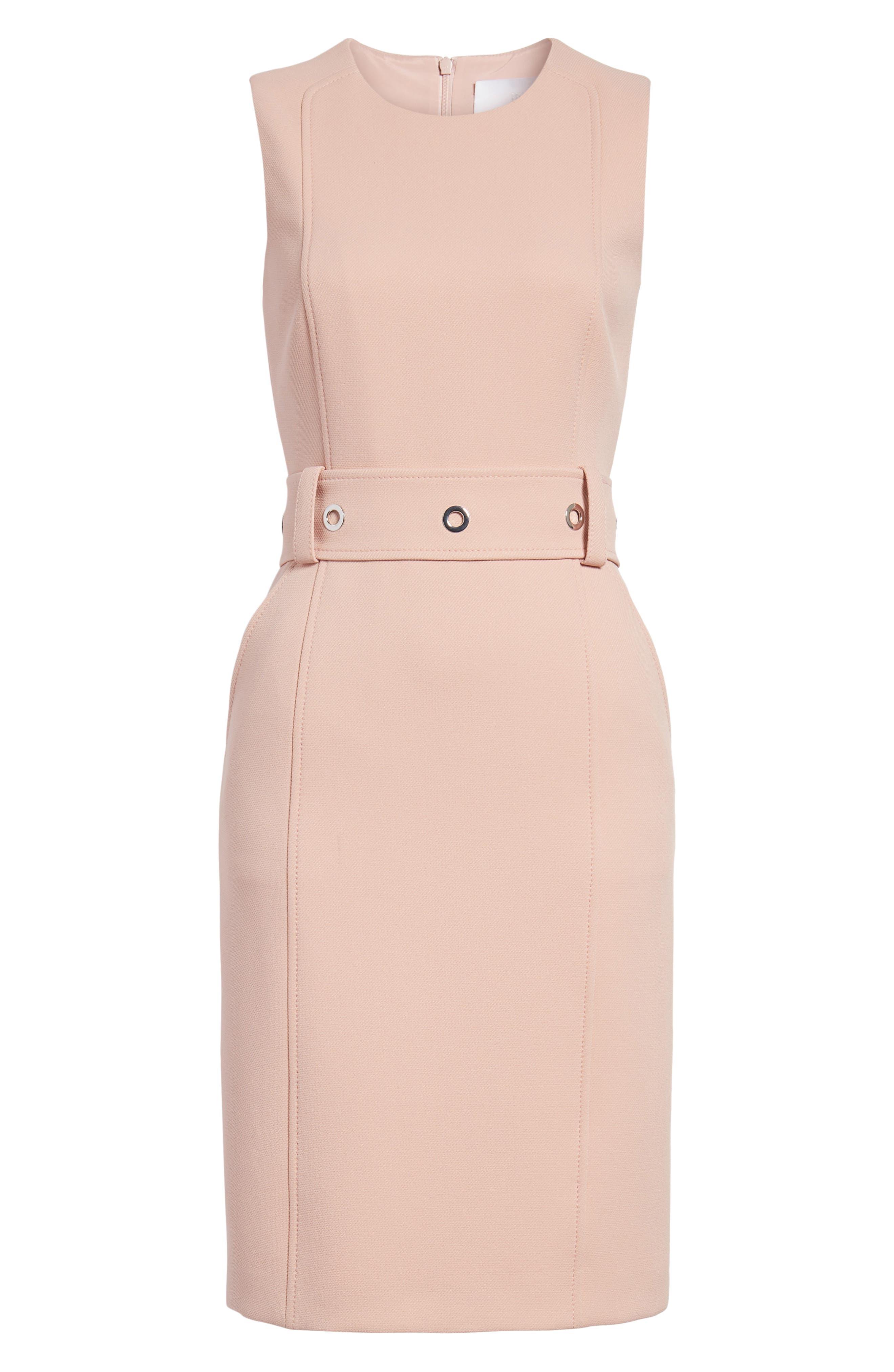 Duleama Compact Twill Dress,                             Alternate thumbnail 7, color,                             Blush