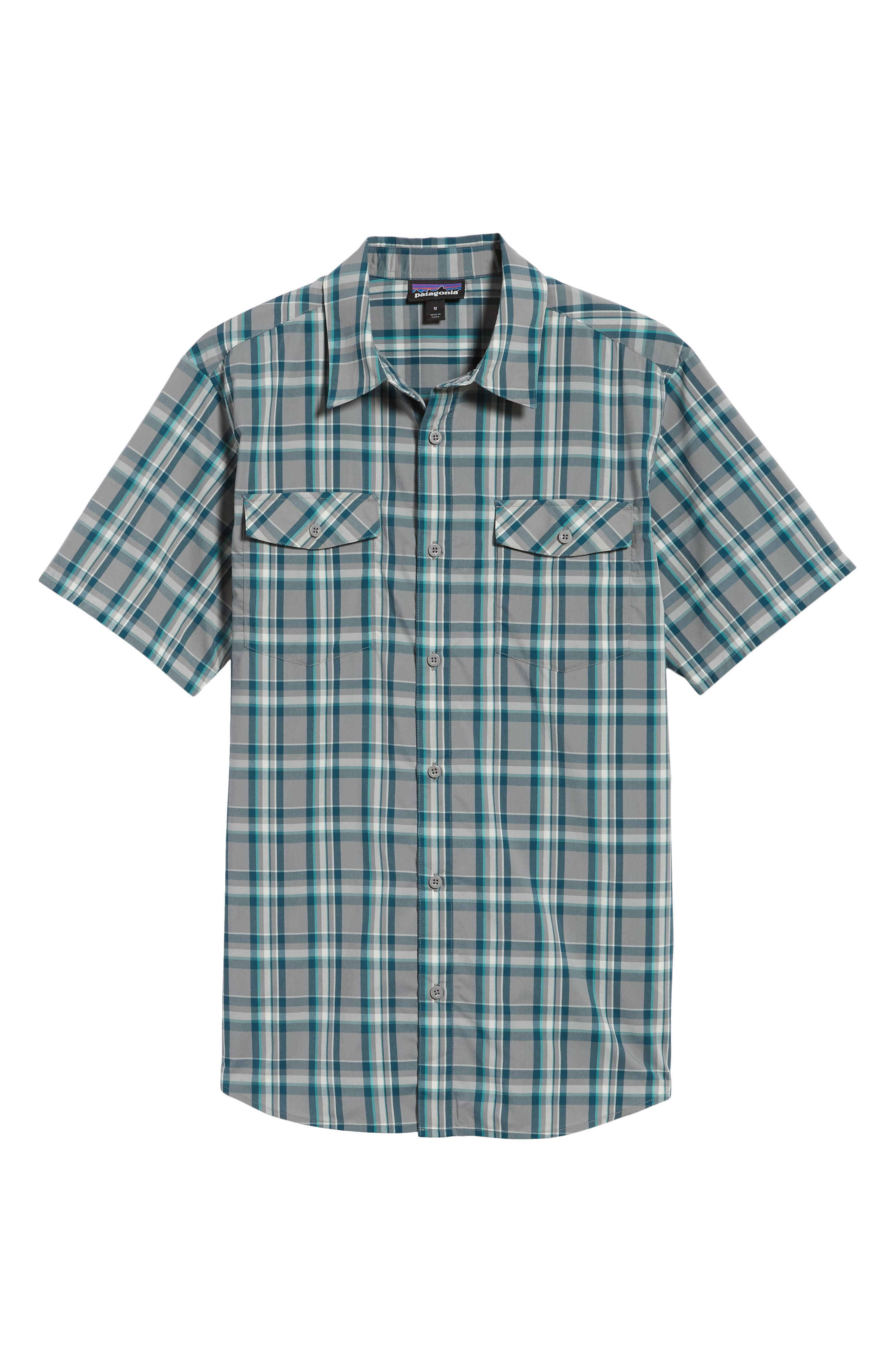 High Moss Regular Fit Short Sleeve Sport Shirt,                             Alternate thumbnail 6, color,                             Anchor/ Feather Grey