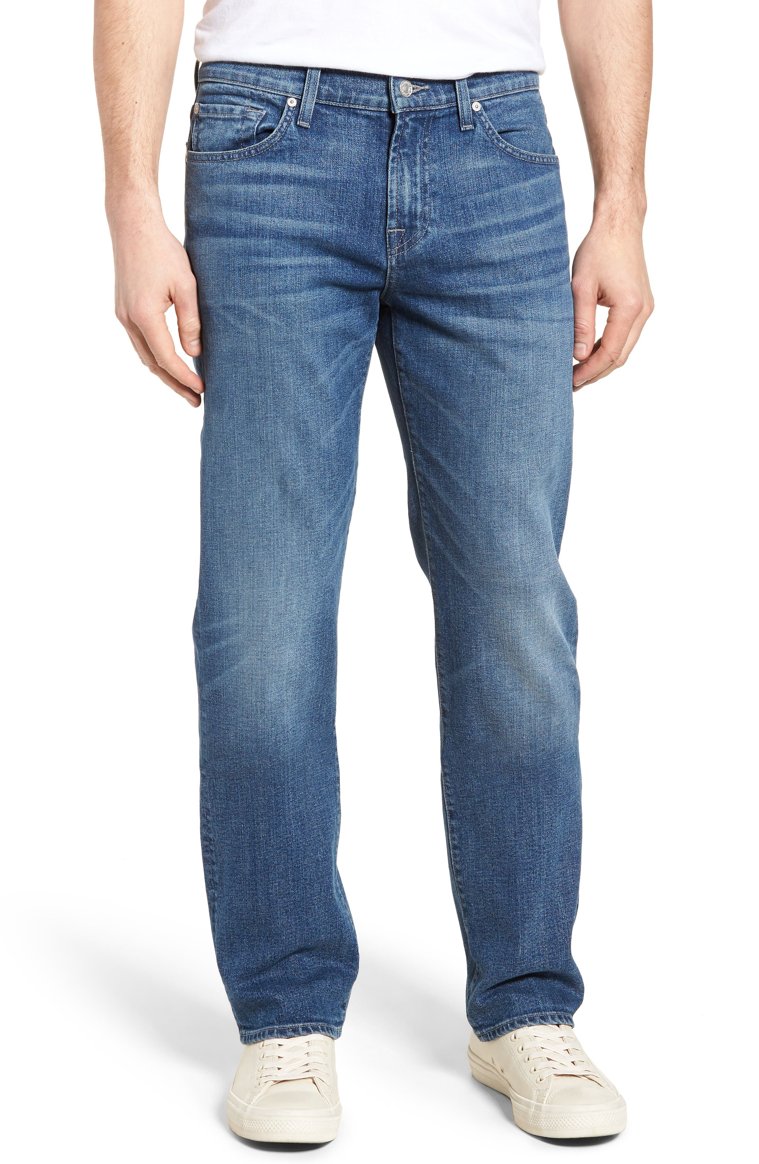 Standard Straight Leg Jeans,                             Main thumbnail 1, color,                             Savage