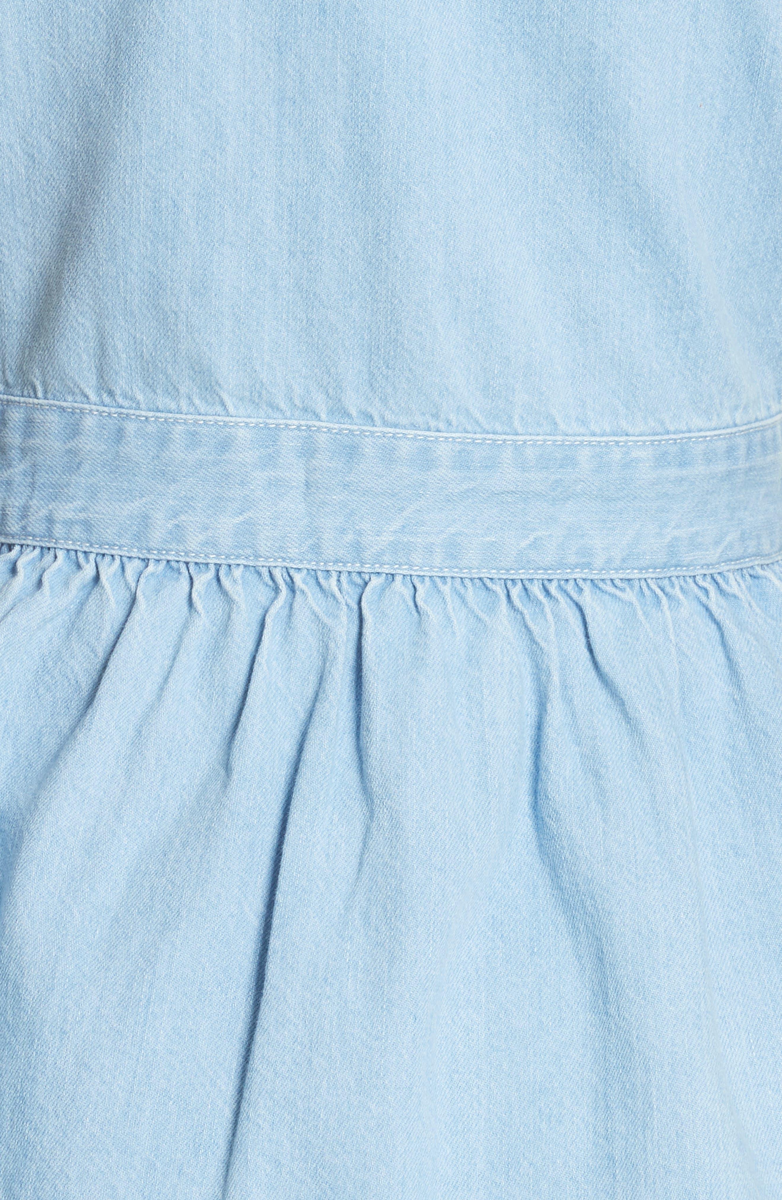 dip dye denim dress,                             Alternate thumbnail 5, color,                             Indigo
