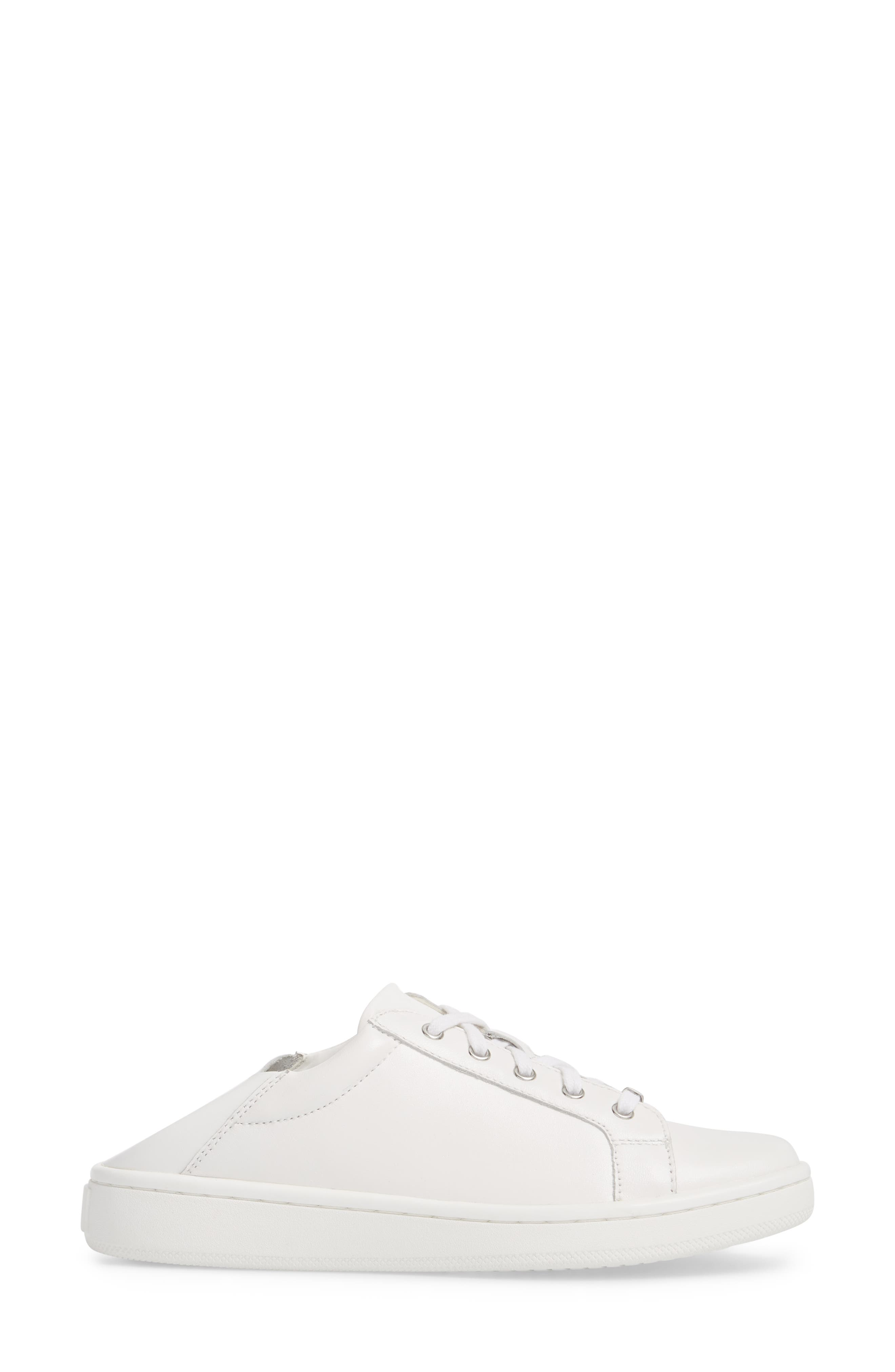 Danica Convertible Sneaker,                             Alternate thumbnail 3, color,                             White/ White Leather
