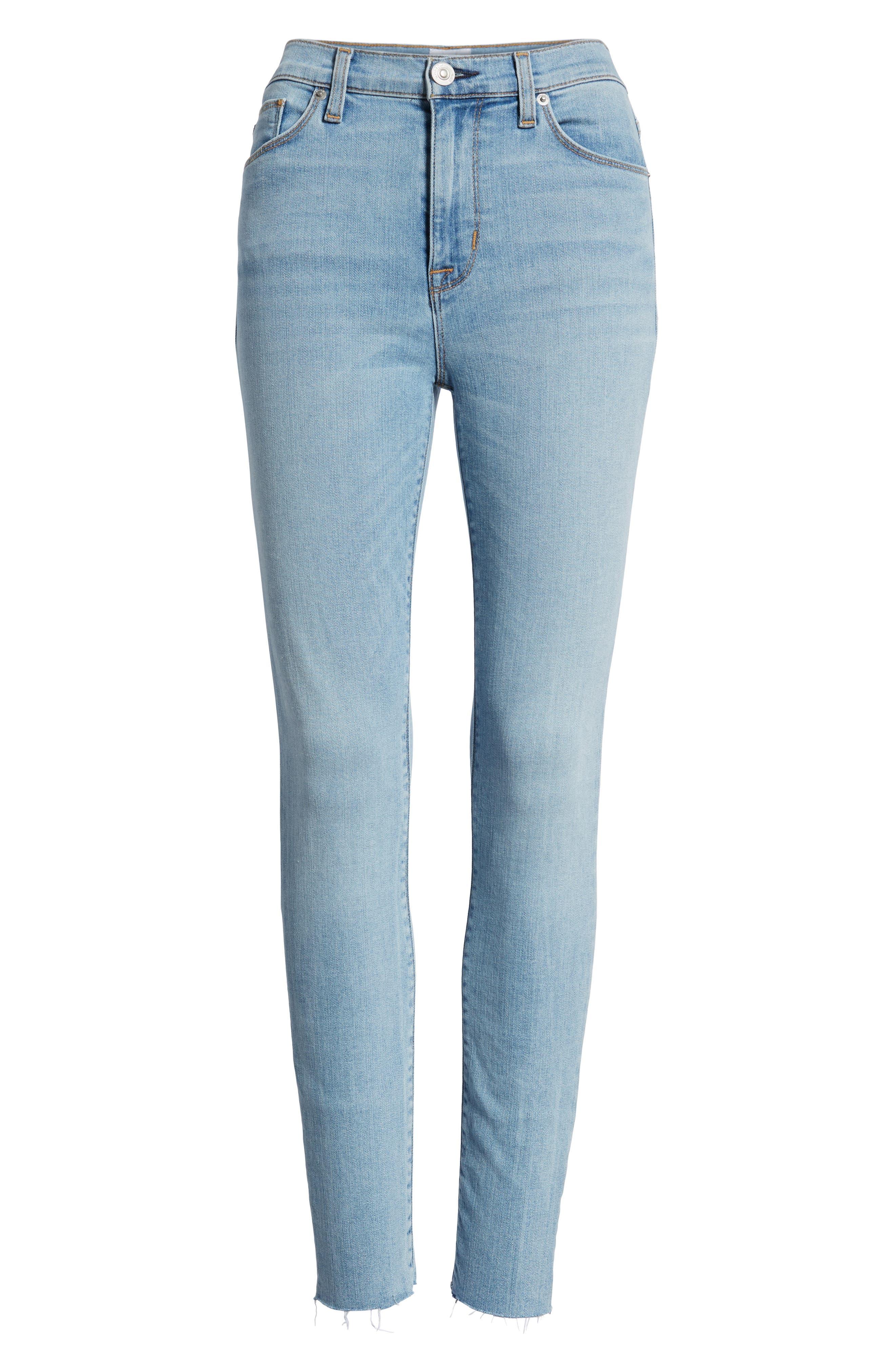 Hudson Barbara High Waist Ankle Skinny Jeans,                             Alternate thumbnail 7, color,                             Gemini