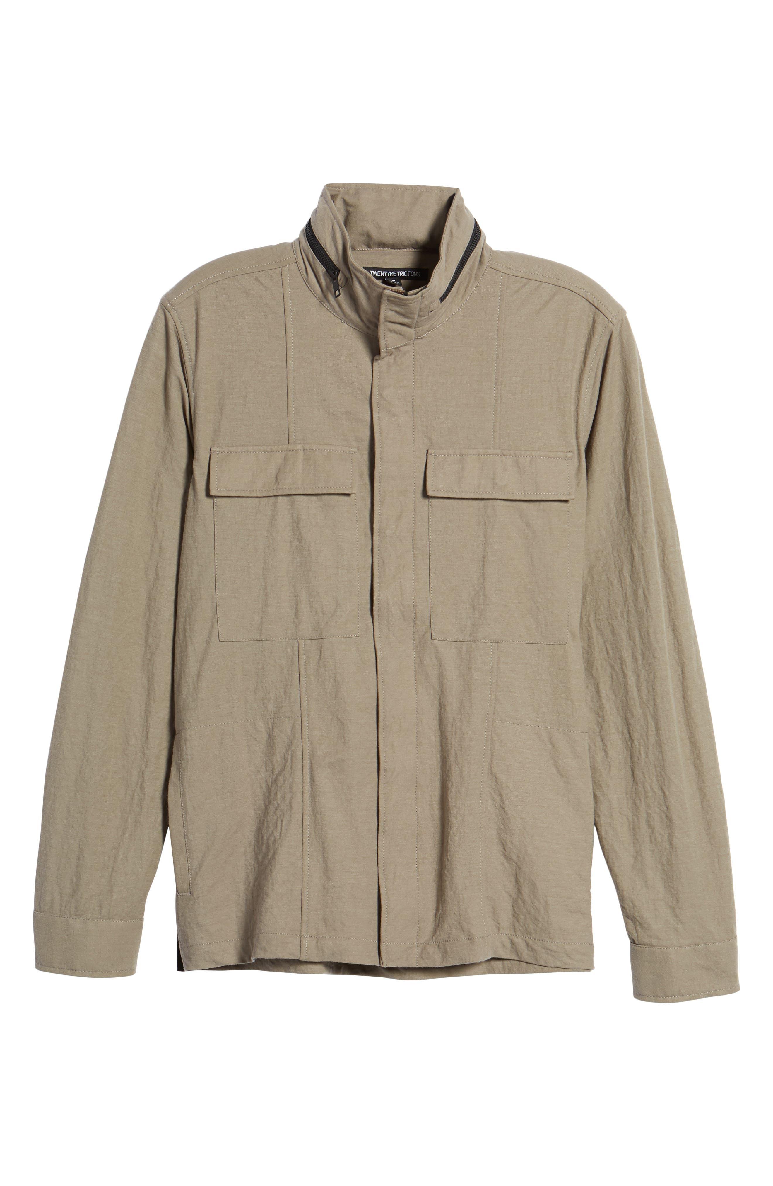 Trim Fit Jacket,                             Alternate thumbnail 6, color,                             Taupe