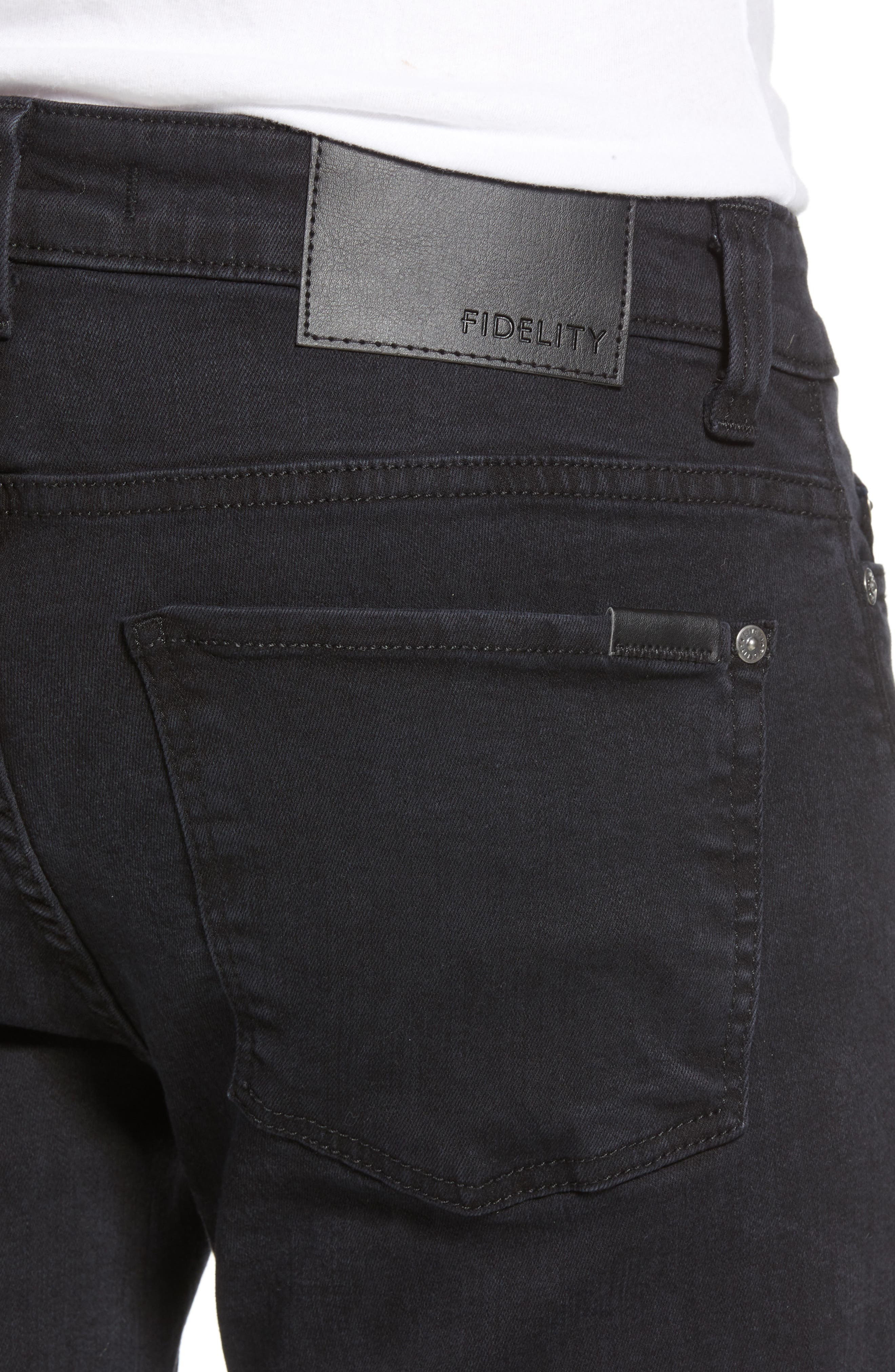 Alternate Image 4  - Fidelity Denim Torino Slim Fit Jeans (Blackbird)