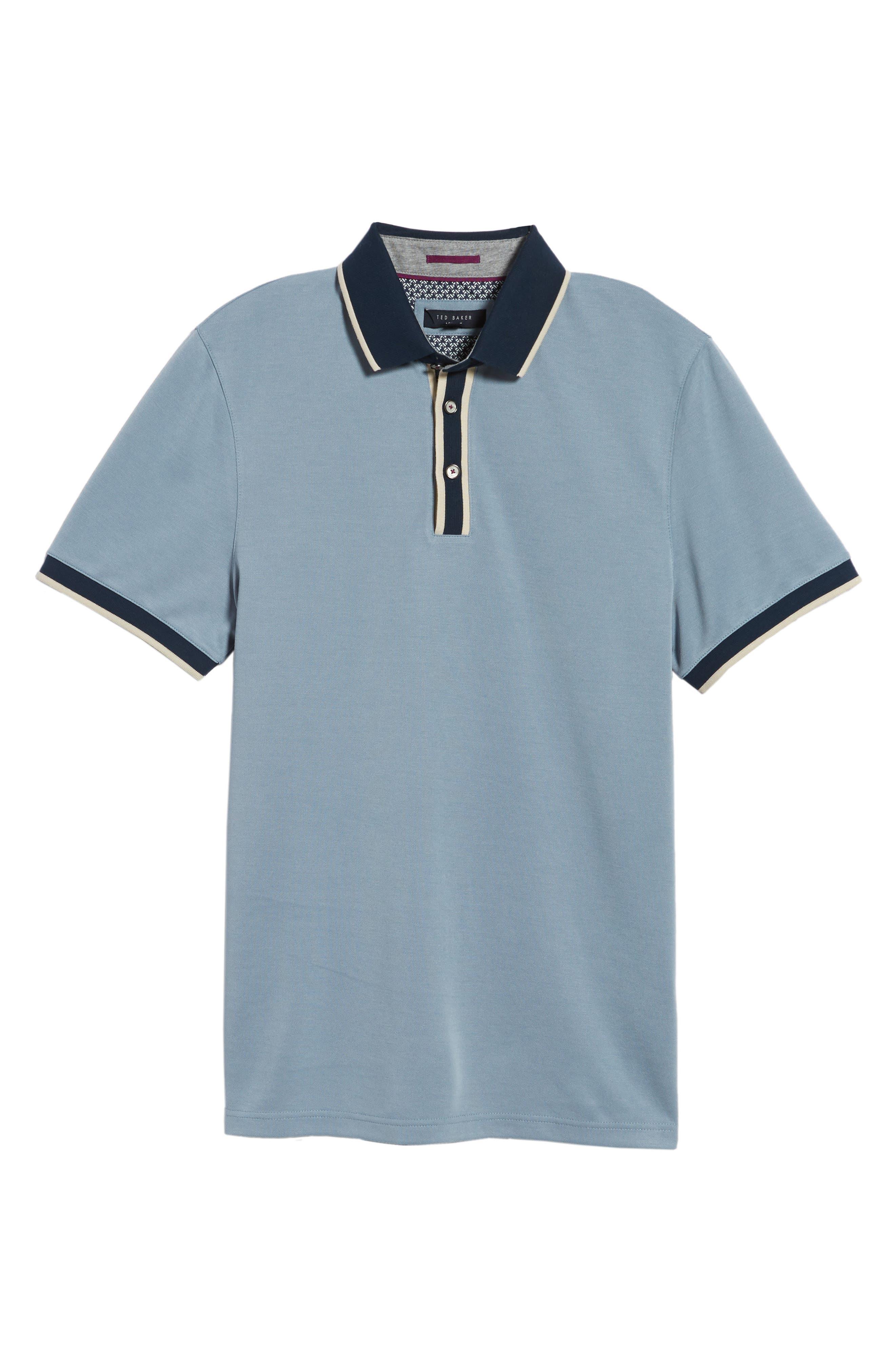 Howl Trim Fit Polo Shirt,                             Alternate thumbnail 6, color,                             Blue