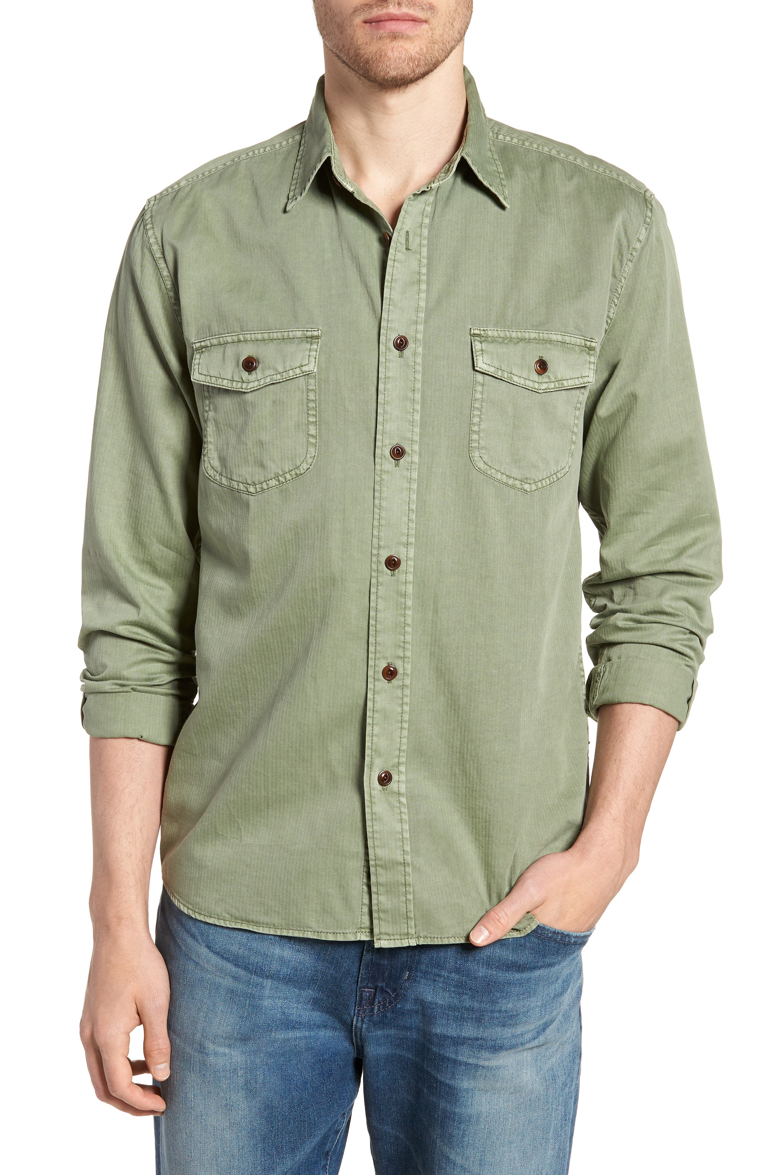 Radar Sport Shirt,                         Main,                         color, Olive