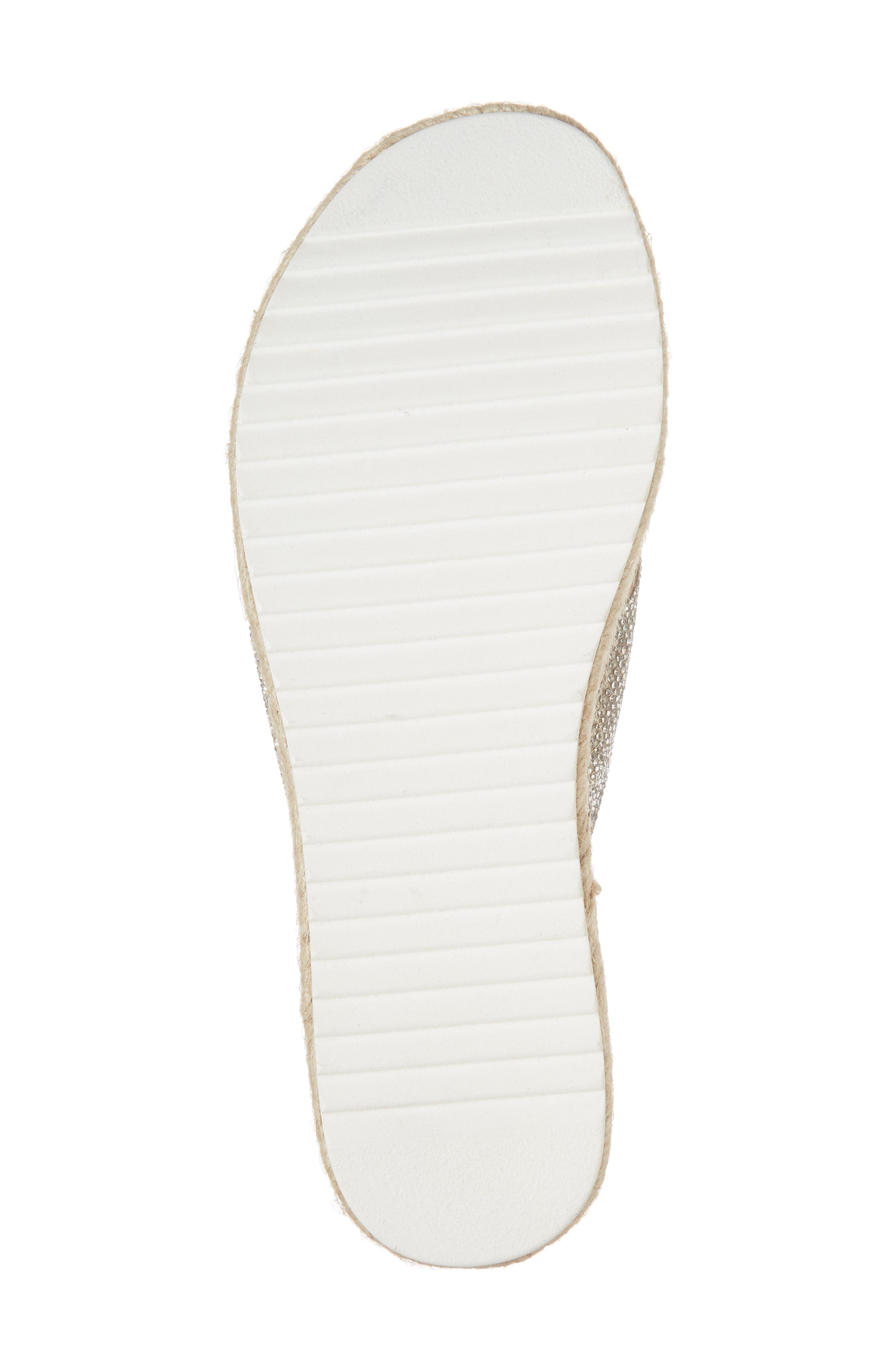 Arran-R Platform Espadrille Sandal,                             Alternate thumbnail 6, color,                             Silver