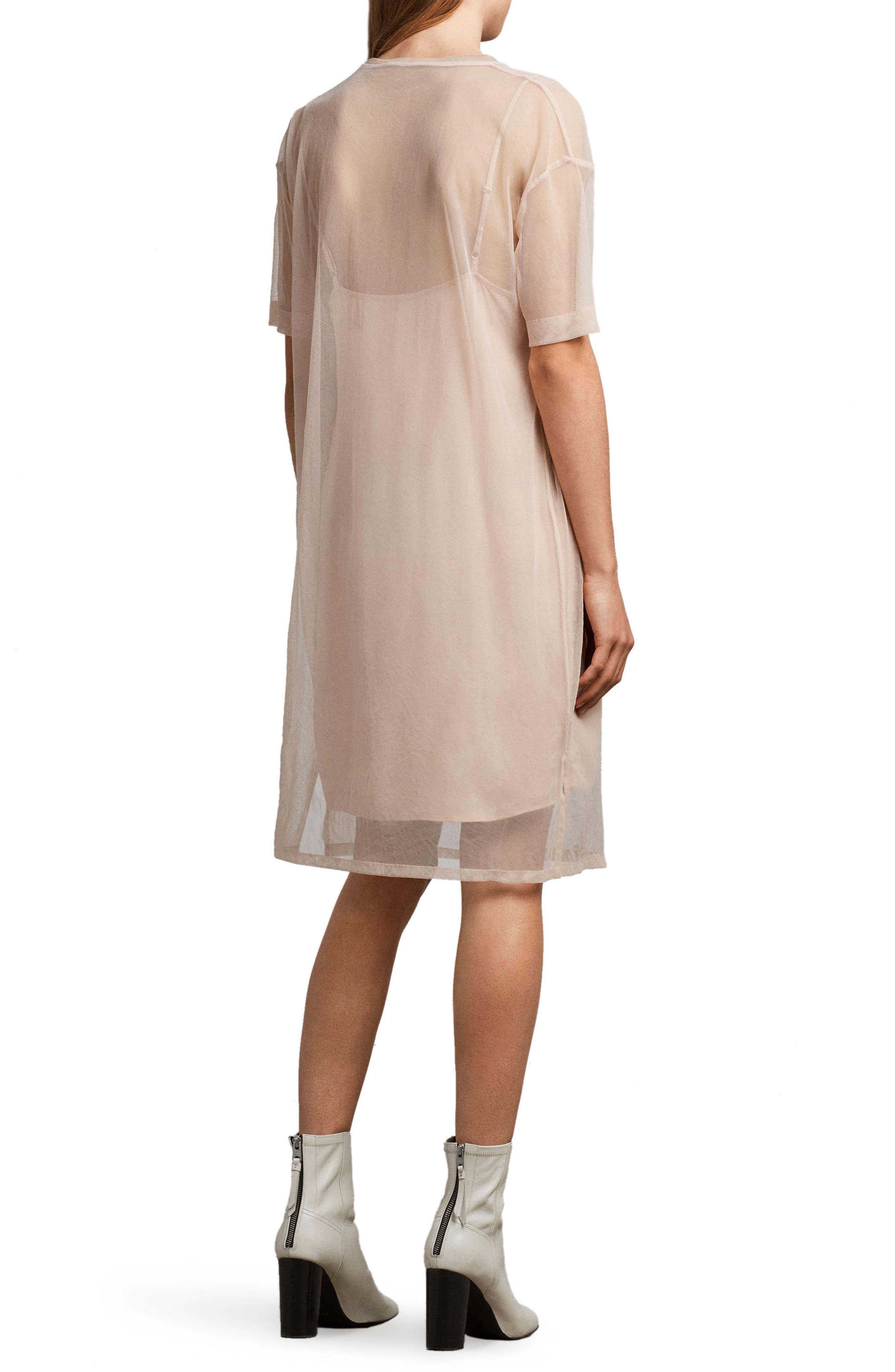 Kyla Floral Print Dress,                             Alternate thumbnail 2, color,                             Pale Pink