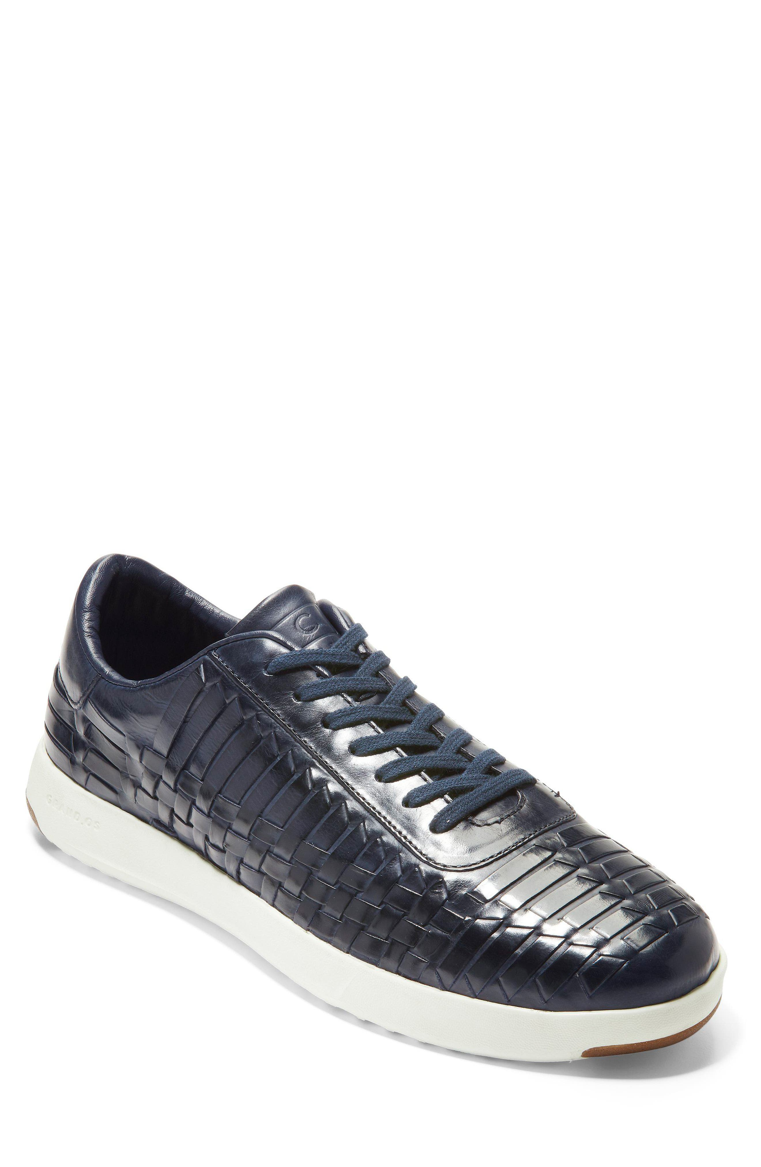 GrandPro Tennis Huarache Sneaker,                         Main,                         color, Navy Woven Burnish