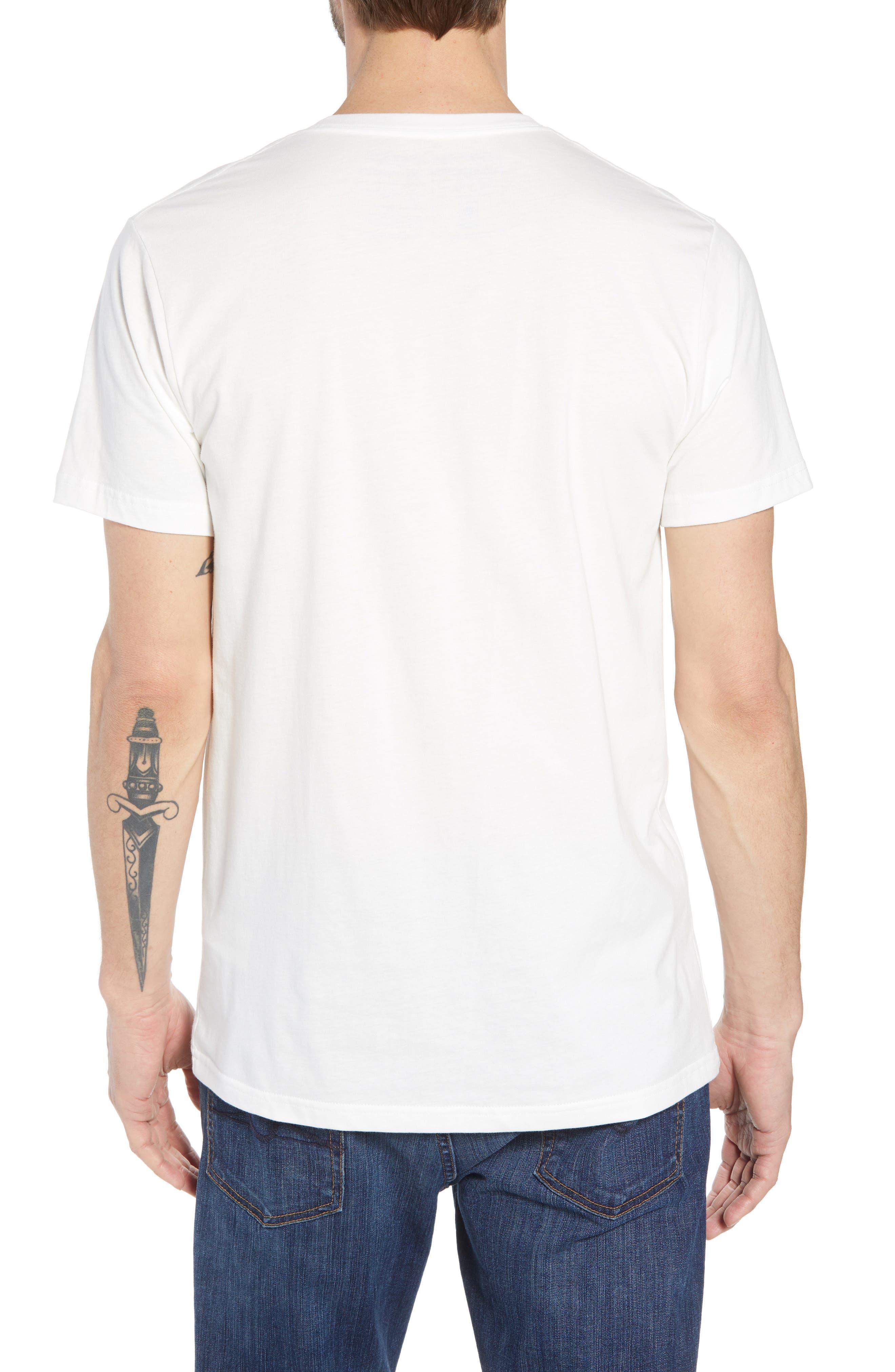 Fitz Roy Bear Crewneck T-Shirt,                             Alternate thumbnail 2, color,                             White