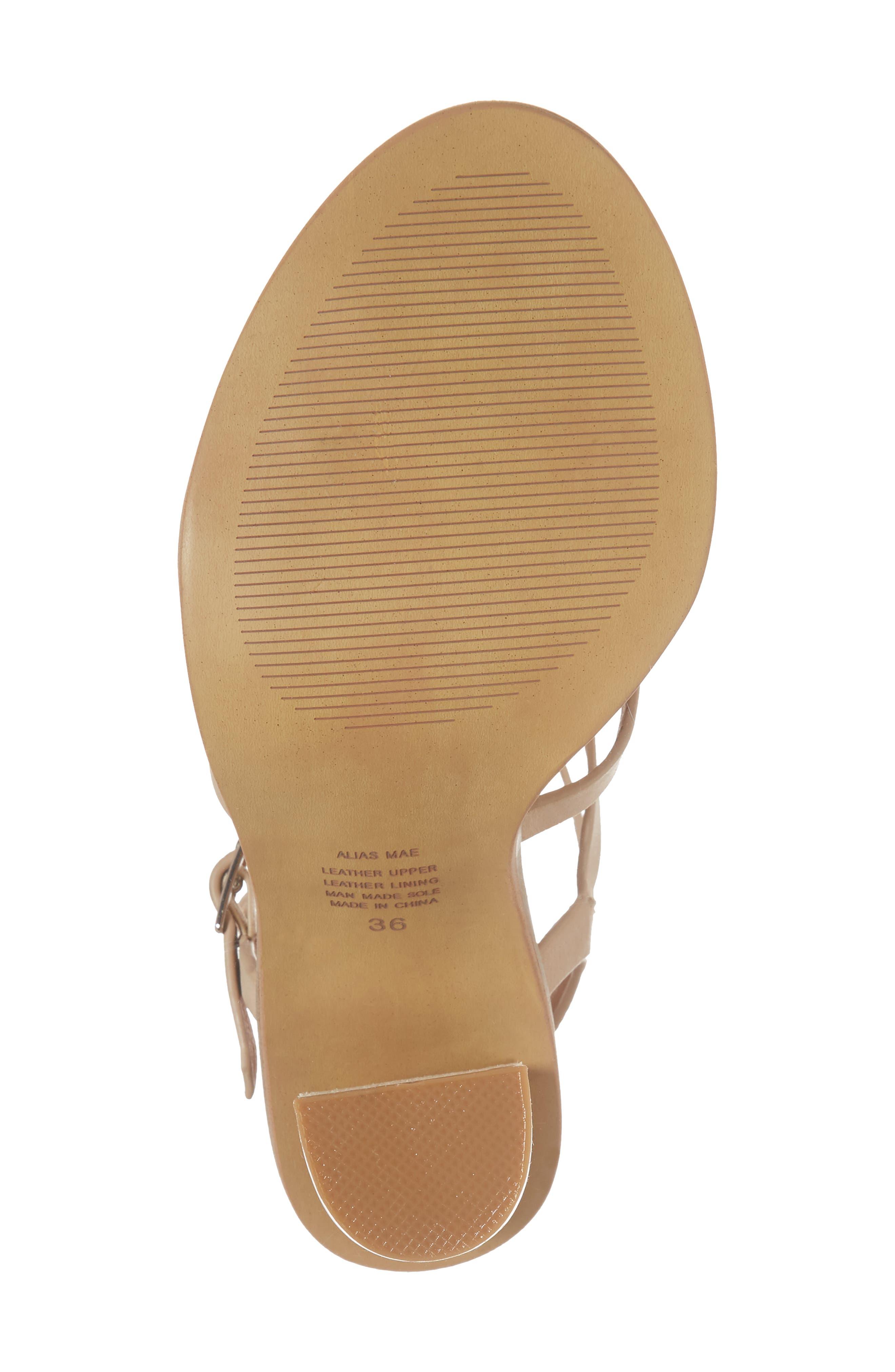 Adios Sandal,                             Alternate thumbnail 6, color,                             Natural Leather