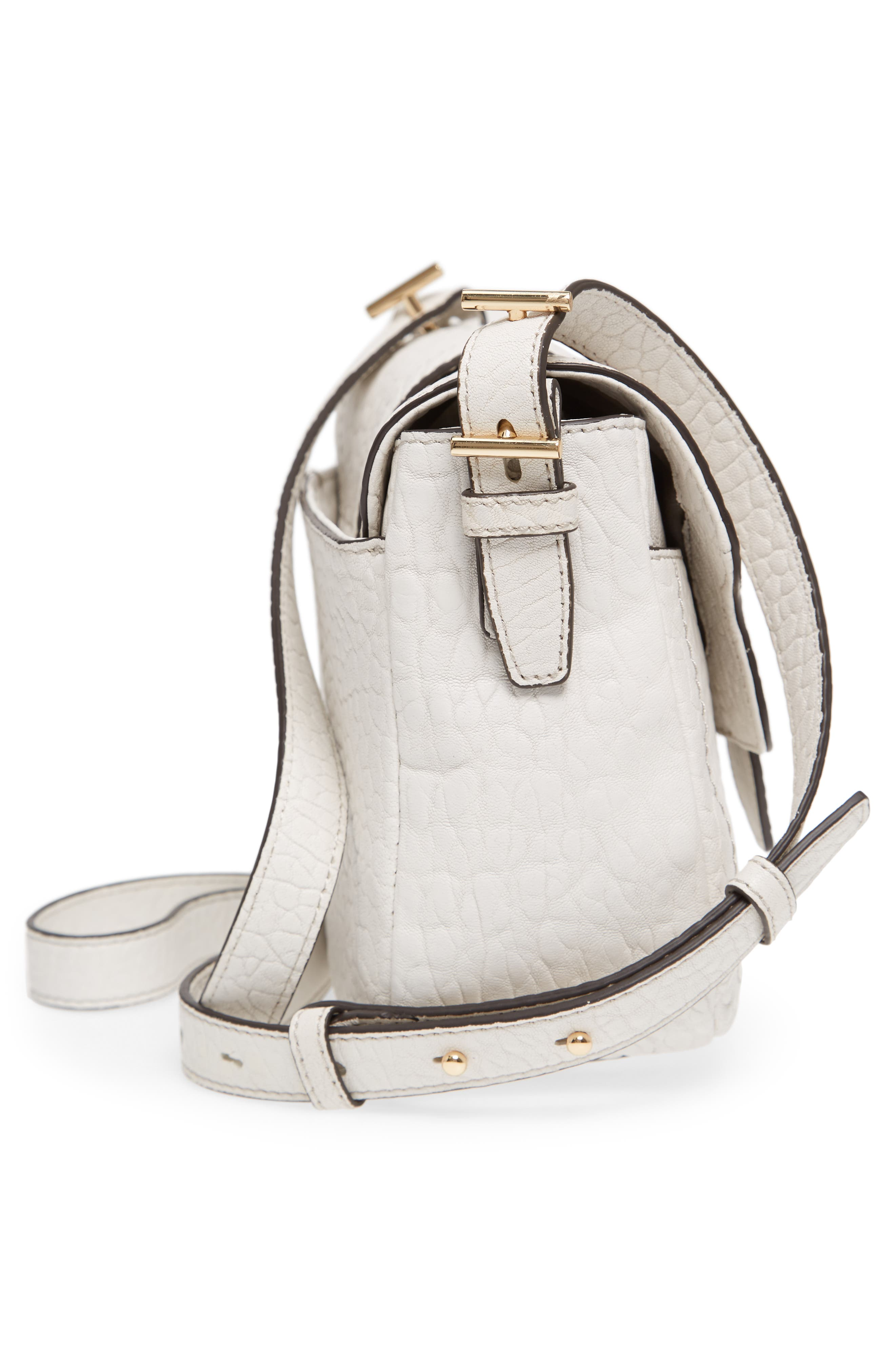 Fava Leather Crossbody Bag,                             Alternate thumbnail 5, color,                             Vaporous Grey