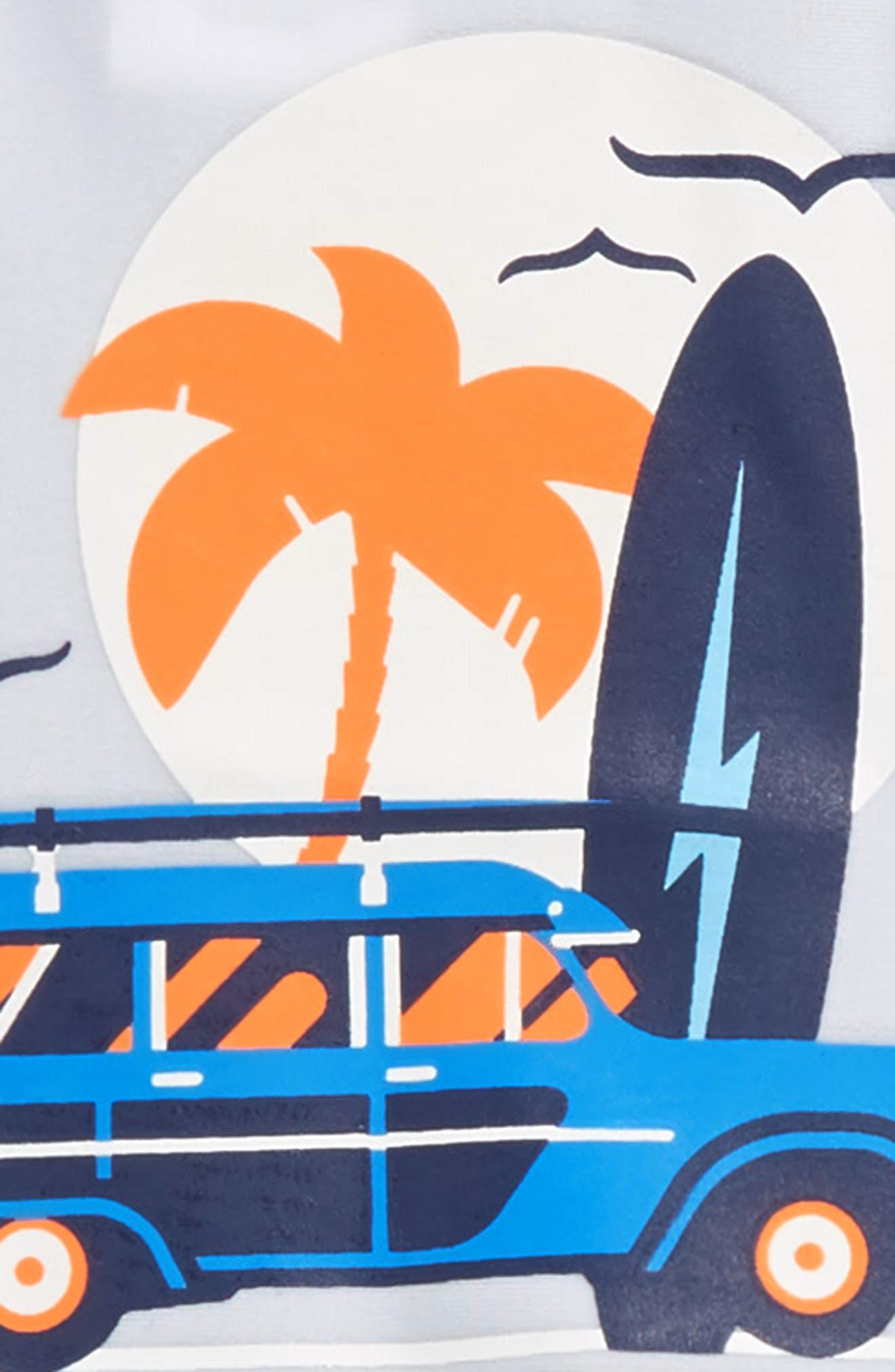 Surf Shop Two-Piece Rashguard Swimsuit,                             Alternate thumbnail 2, color,                             White Multi