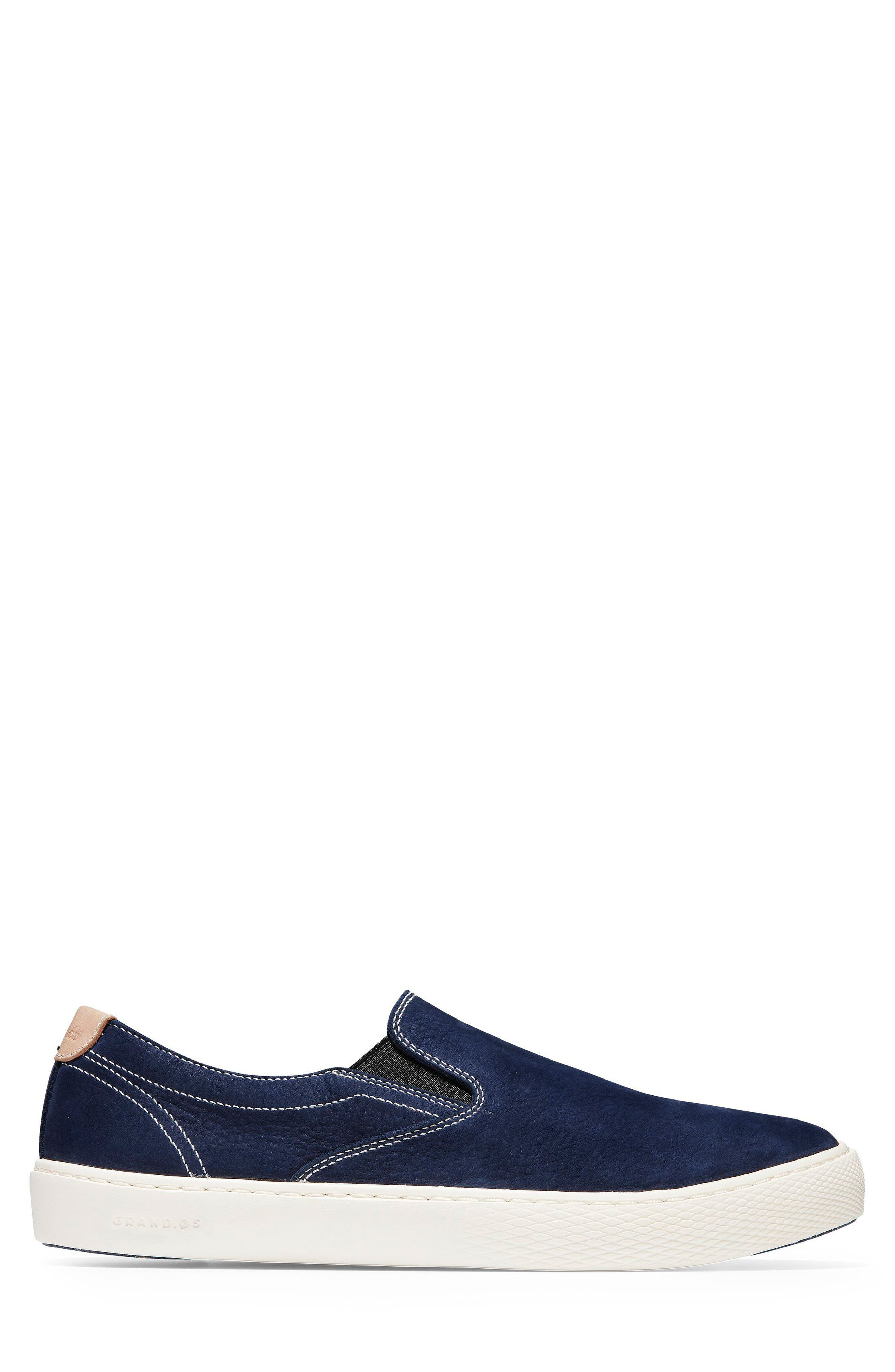 GrandPrø Deck Slip-On Sneaker,                             Alternate thumbnail 3, color,                             Marine Blue Nubuck