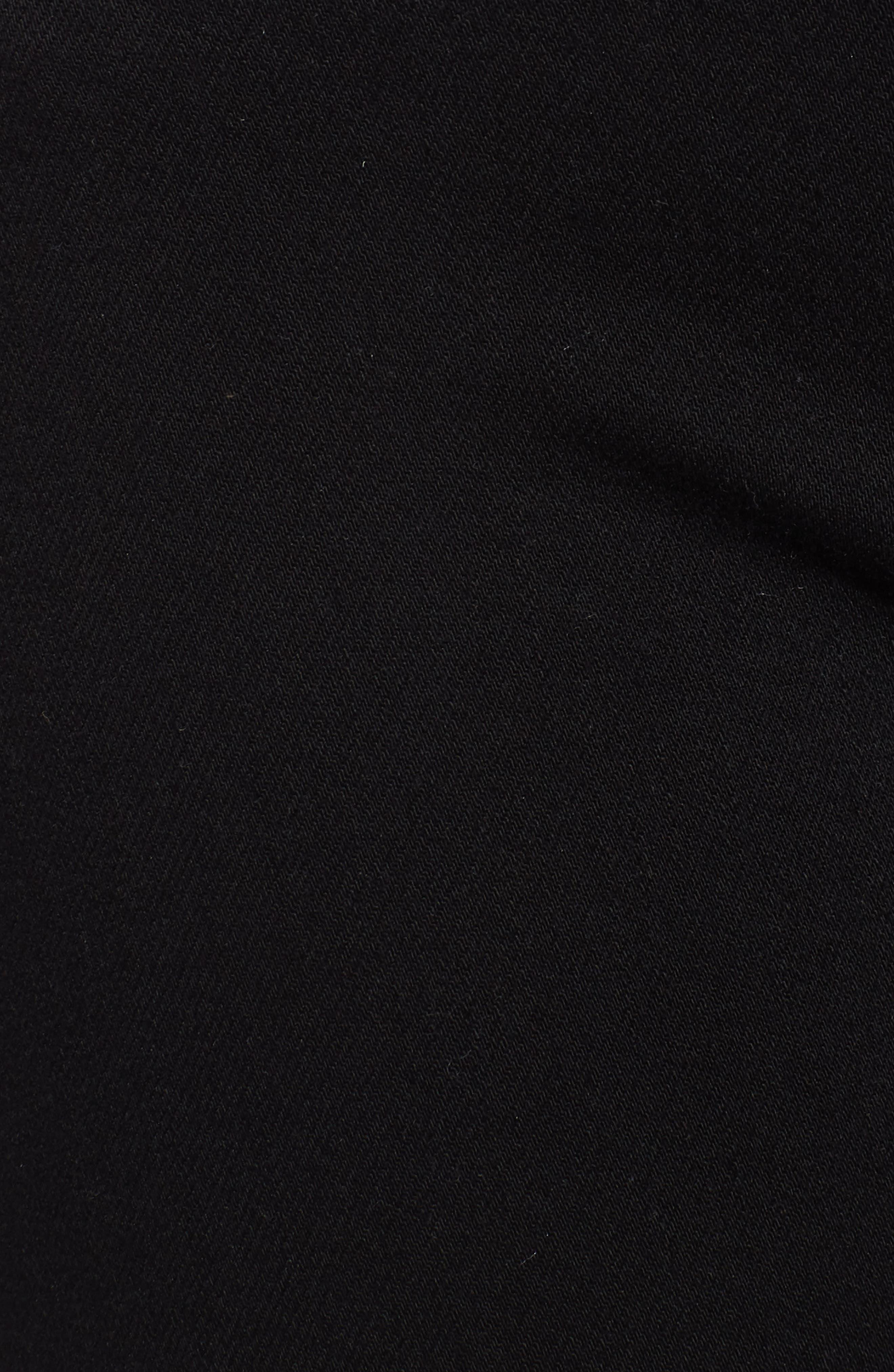 Amelia Cutoff Knee Shorts,                             Alternate thumbnail 6, color,                             Black