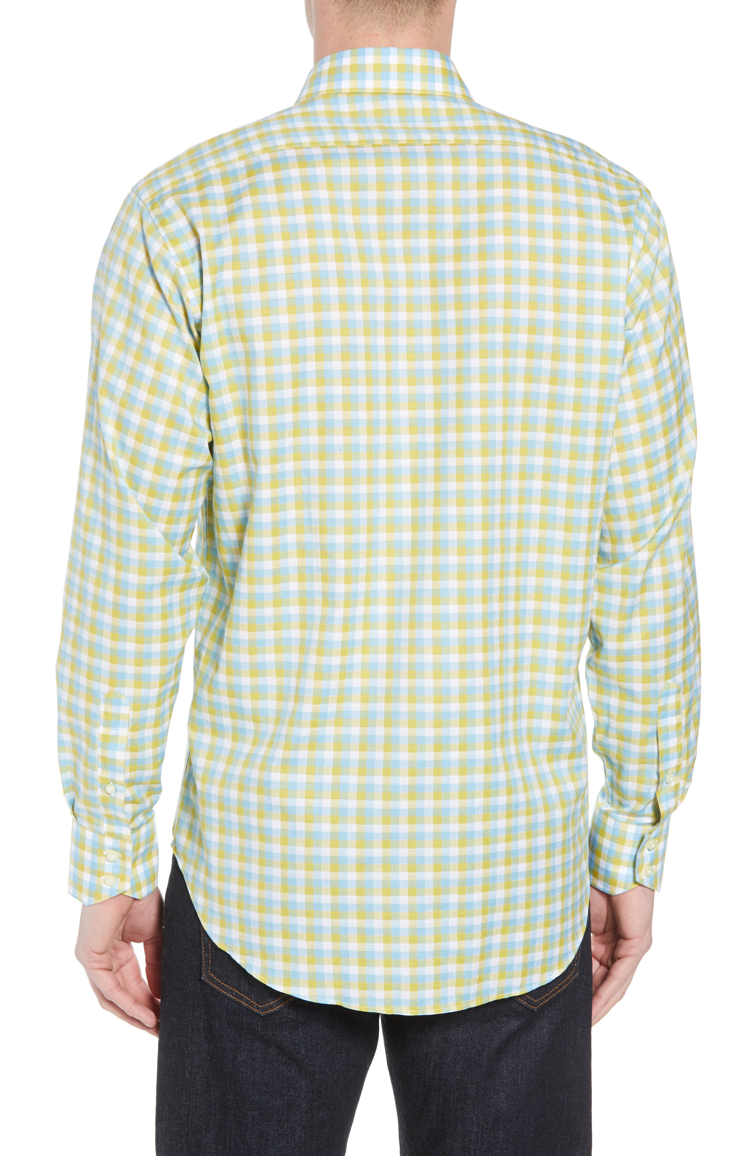 Regular Fit Check Sport Shirt,                             Alternate thumbnail 2, color,                             Yellow
