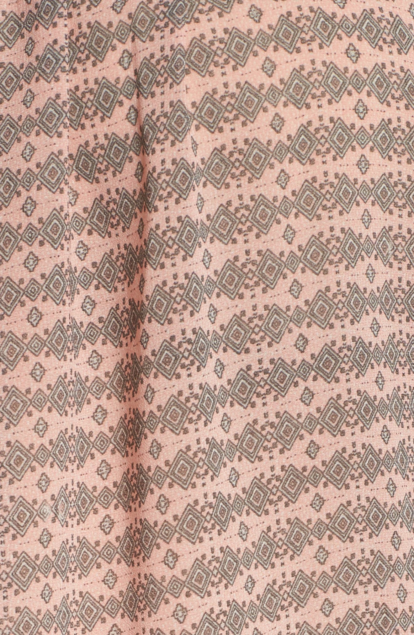 Short Sleeve Print Peasant Top,                             Alternate thumbnail 6, color,                             Pink Multi
