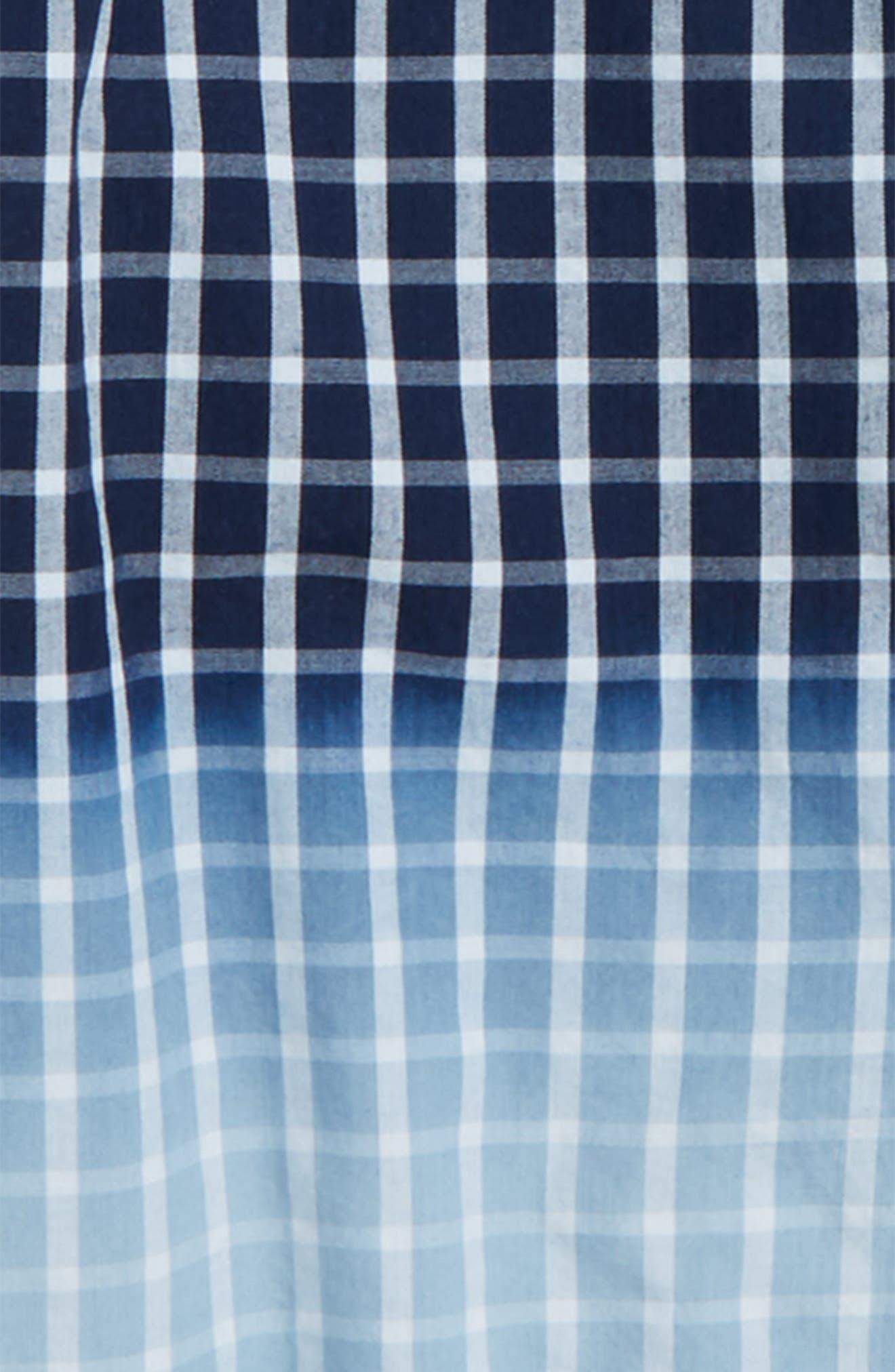 Dip Dye Check Shirt,                             Alternate thumbnail 2, color,                             Navy Denim Plaid