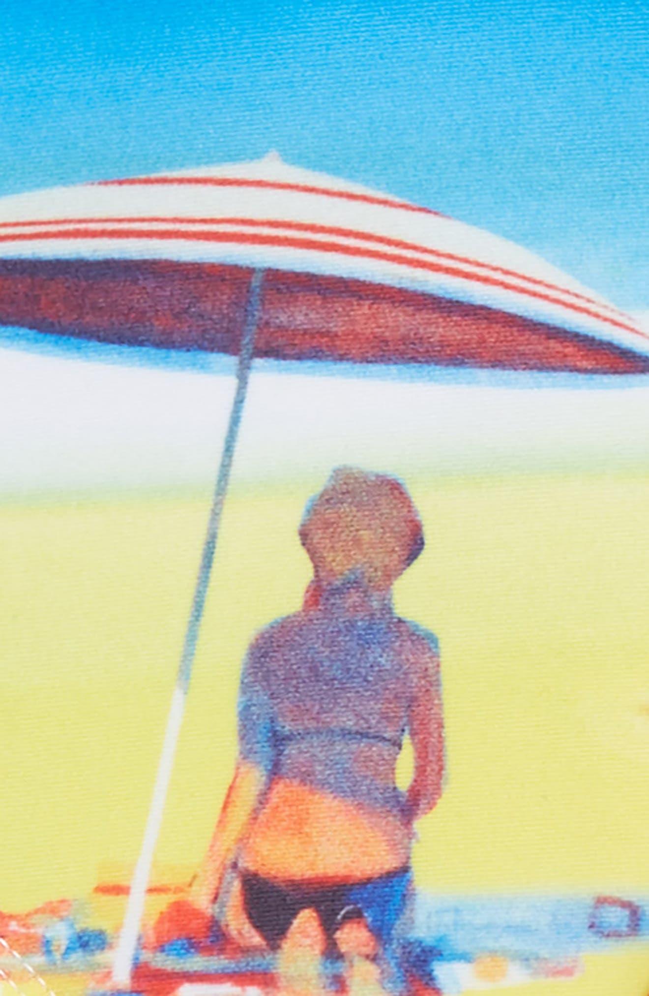 Retro Summer One-Piece Swimsuit & Swim Skirt Set,                             Alternate thumbnail 2, color,                             Blue Multi