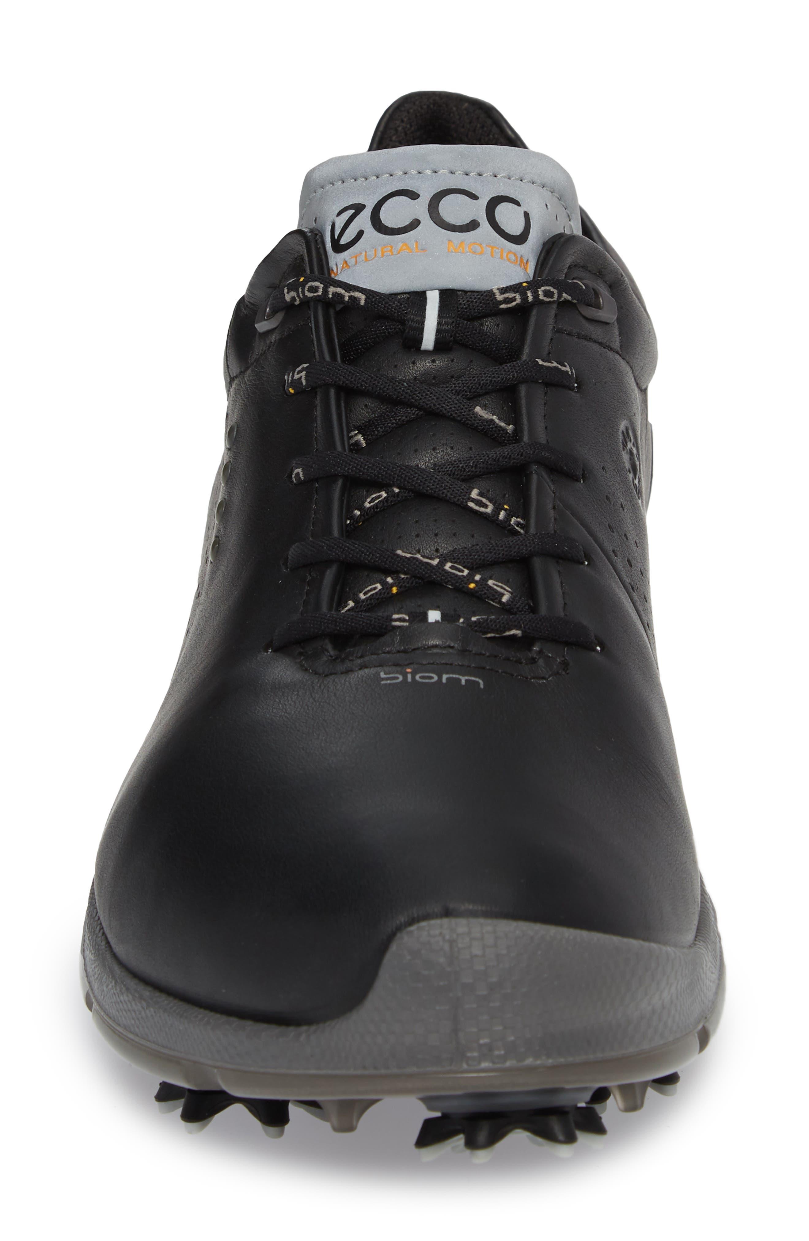 BIOM G 2 Free Gore-Tex<sup>®</sup> Golf Shoe,                             Alternate thumbnail 4, color,                             Black Leather